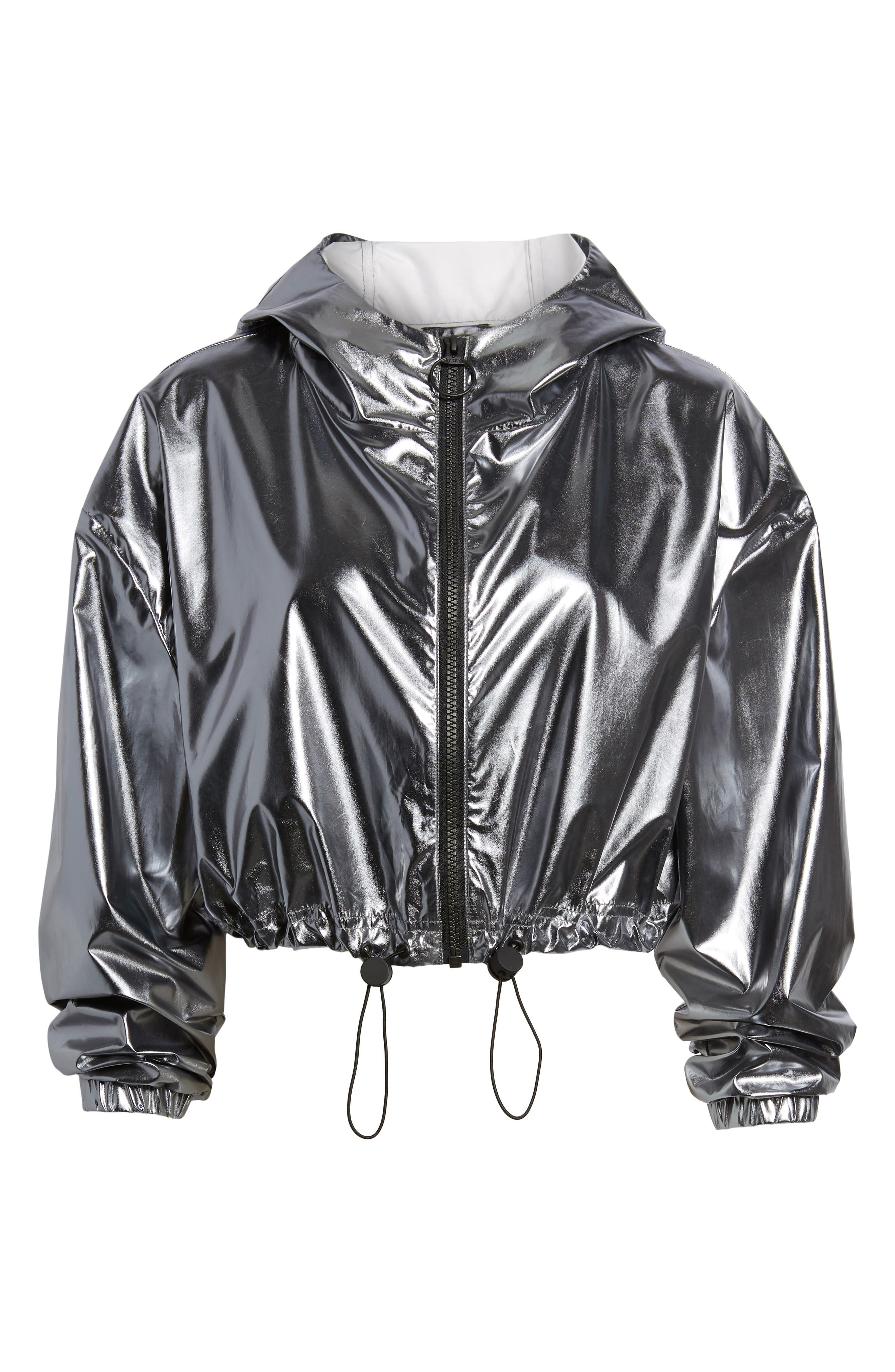 Metallic Crop Jacket,                             Alternate thumbnail 5, color,                             040