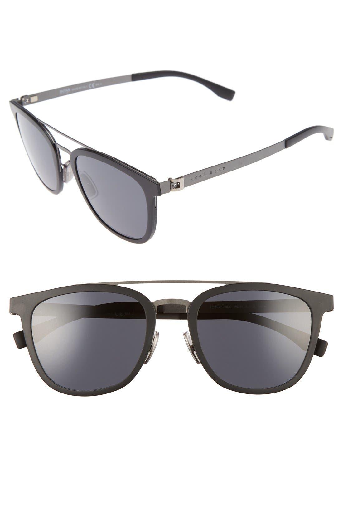 838/S 52mm Sunglasses,                             Main thumbnail 1, color,                             002
