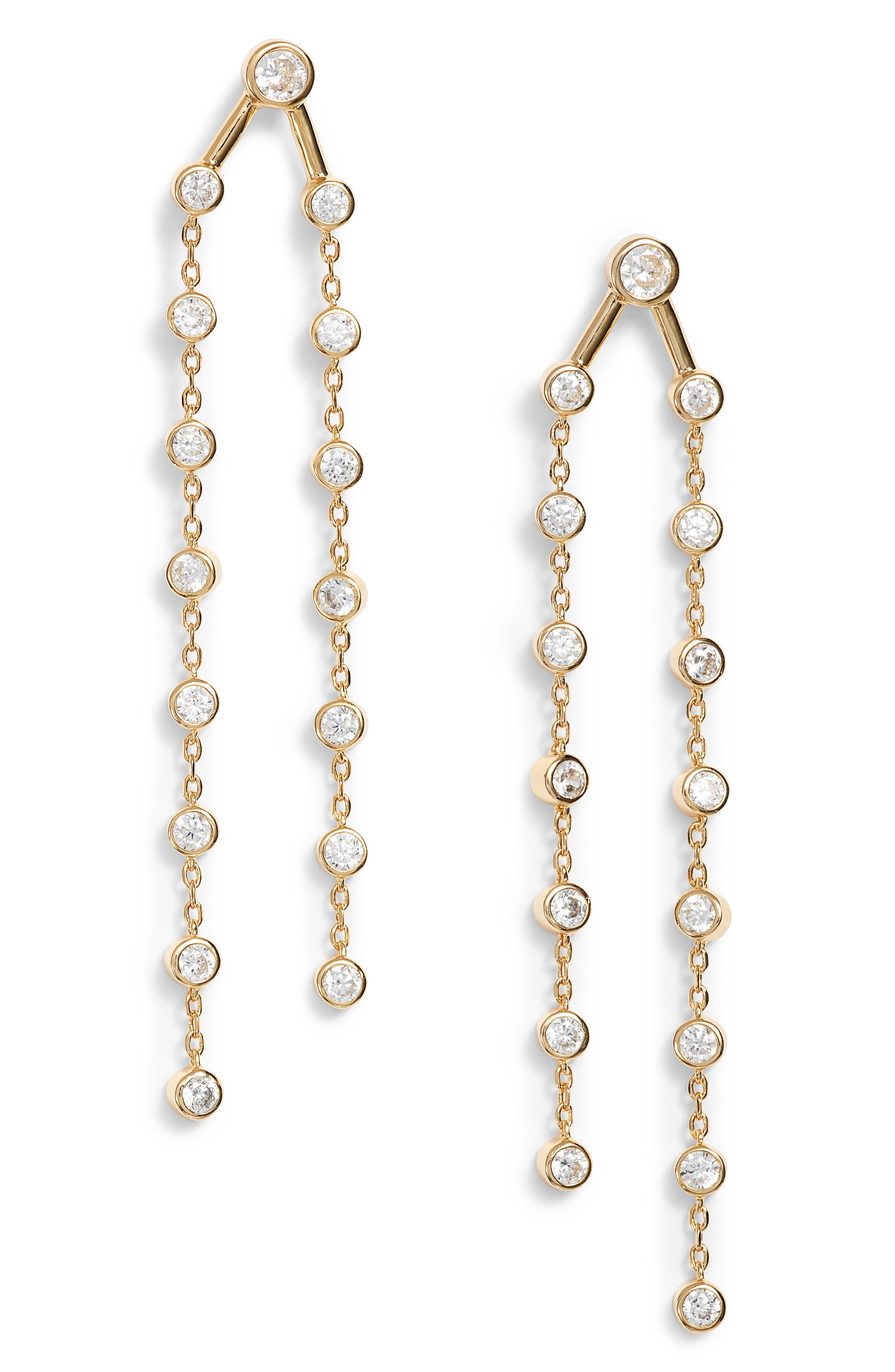 Rosella Cubic Zirconia Drop Earrings,                             Main thumbnail 1, color,                             710