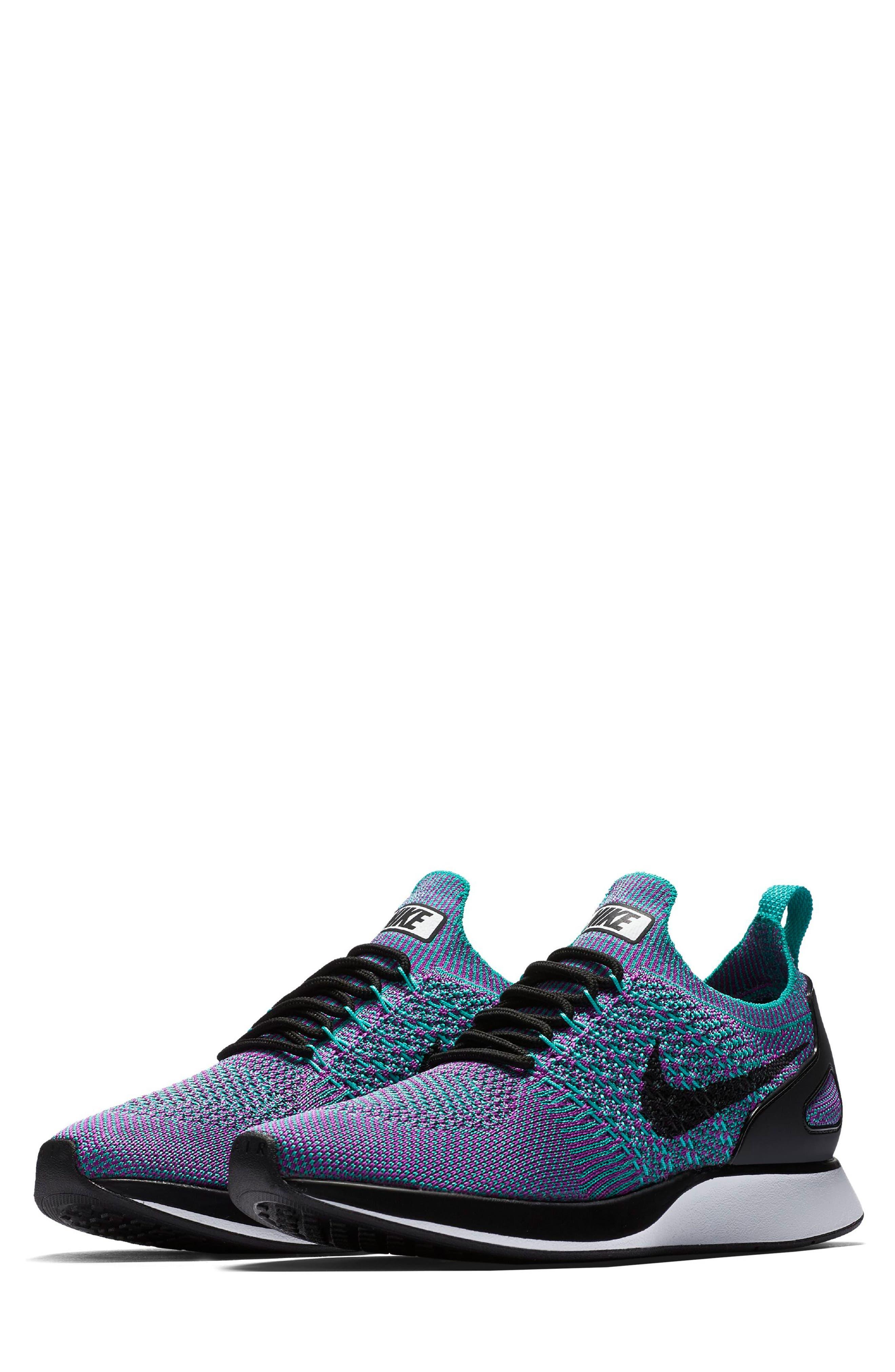 Air Zoom Mariah Flyknit Racer Sneaker,                         Main,                         color, CLEAR JADE/ BLACK