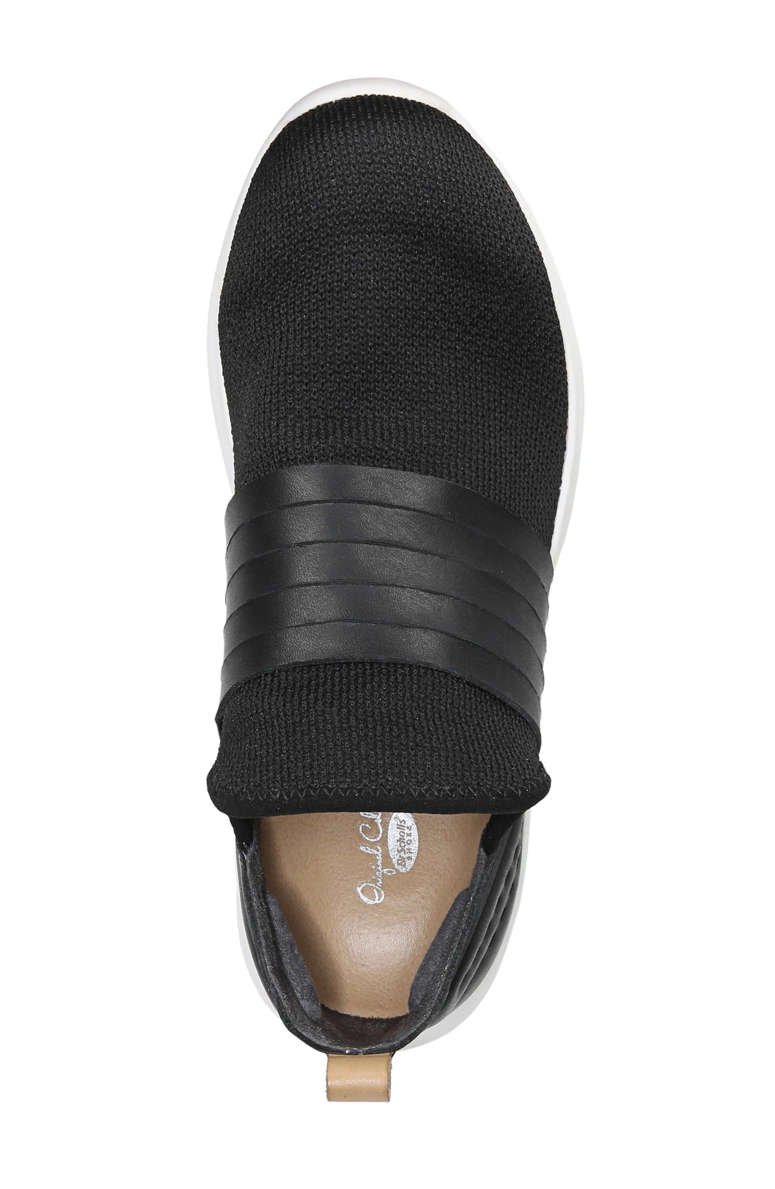 Fierceness Knit Slip-On Sneaker,                             Alternate thumbnail 5, color,                             001