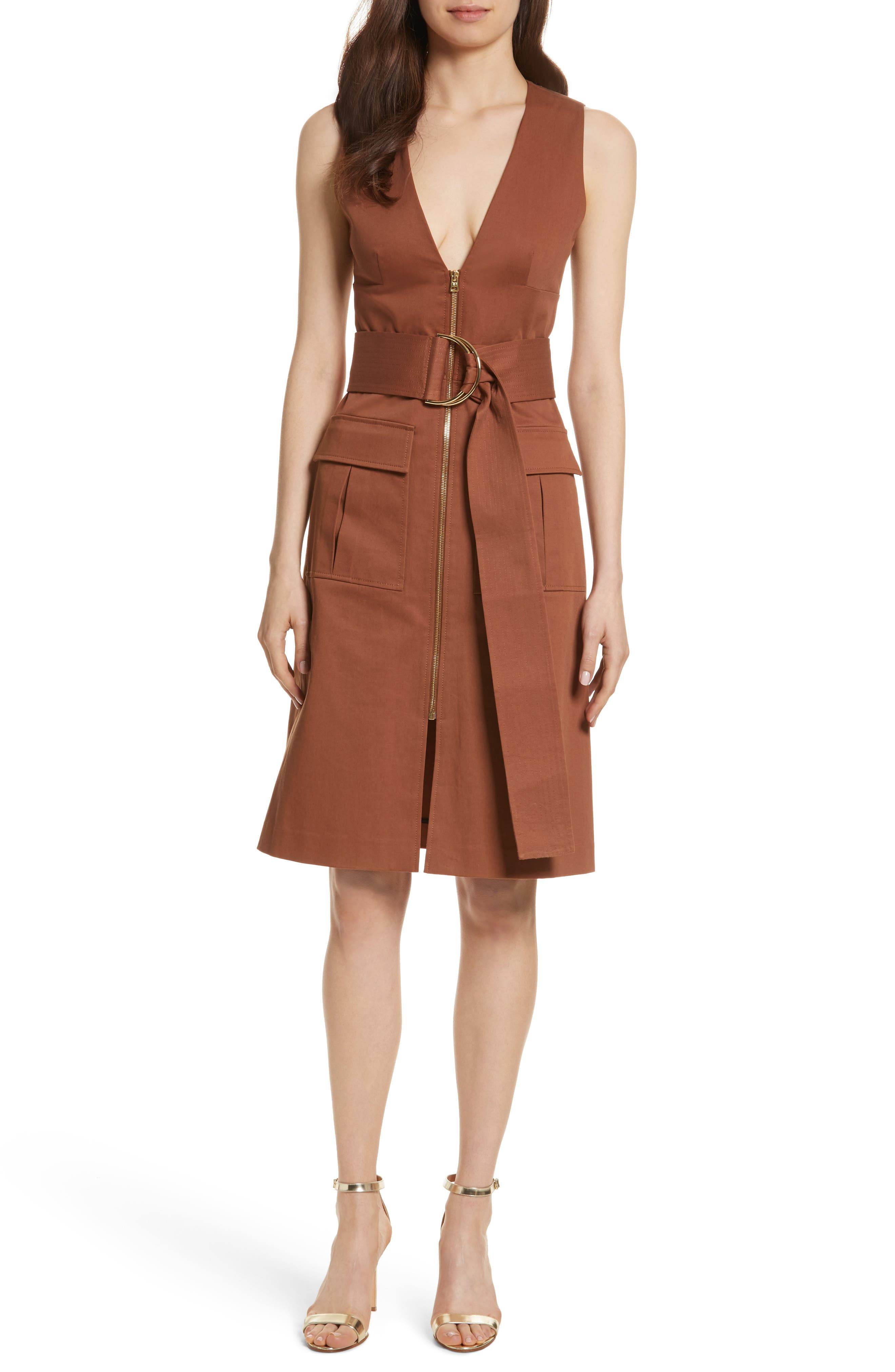 Diane von Furstenberg Zip Front Dress,                             Main thumbnail 1, color,                             203