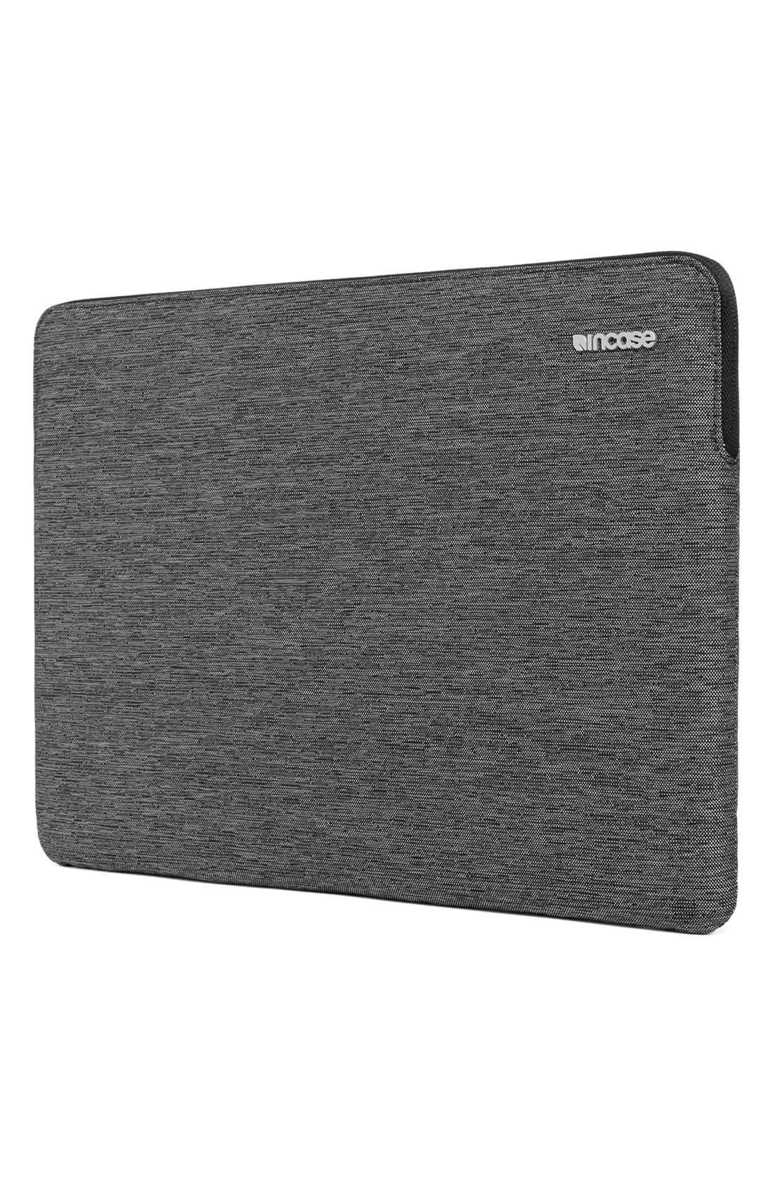 MacBook Air Sleeve,                             Alternate thumbnail 5, color,                             HEATHER  BLACK