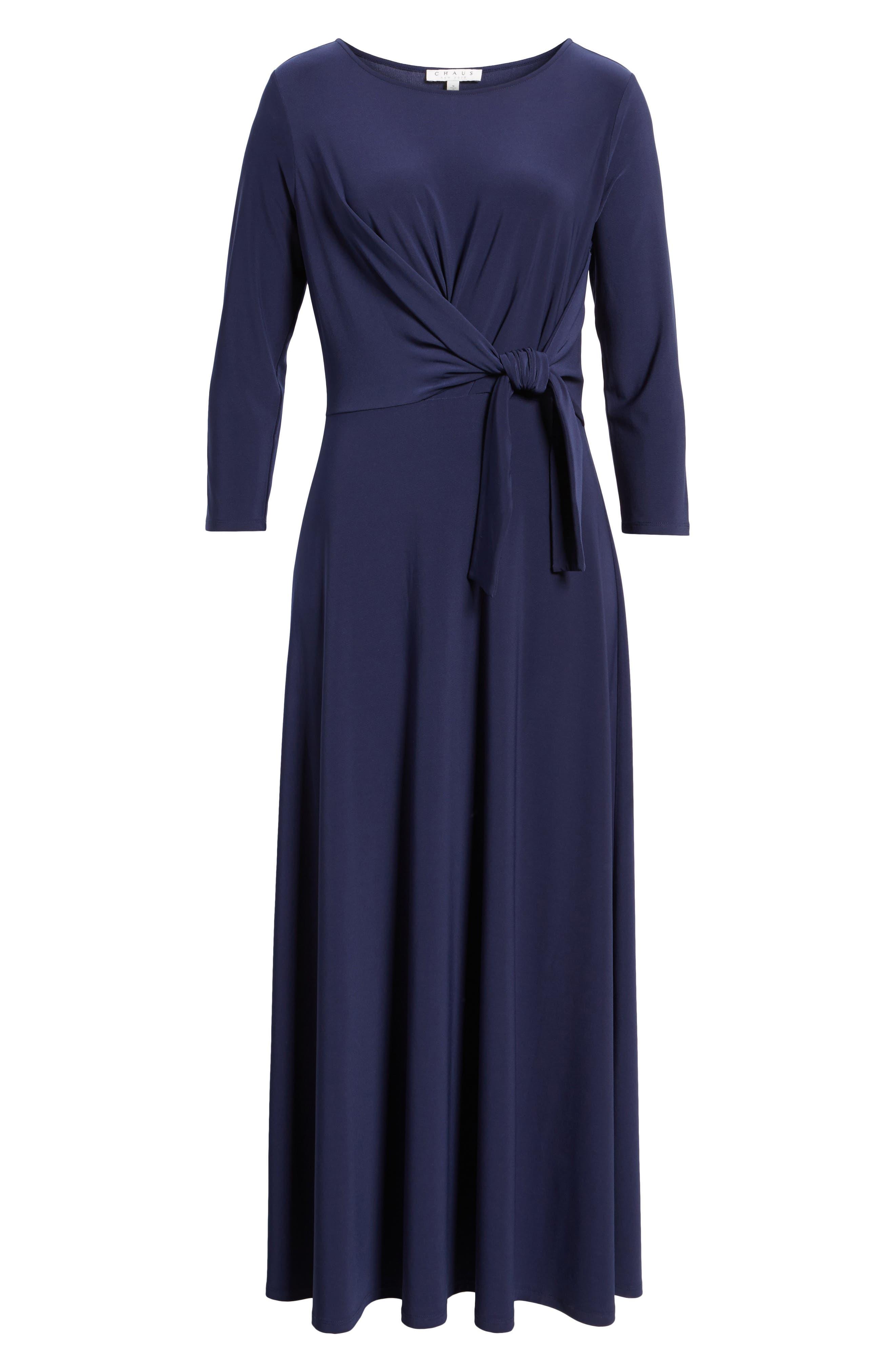 Cahus Faux Wrap Midi Dress,                             Alternate thumbnail 6, color,                             429