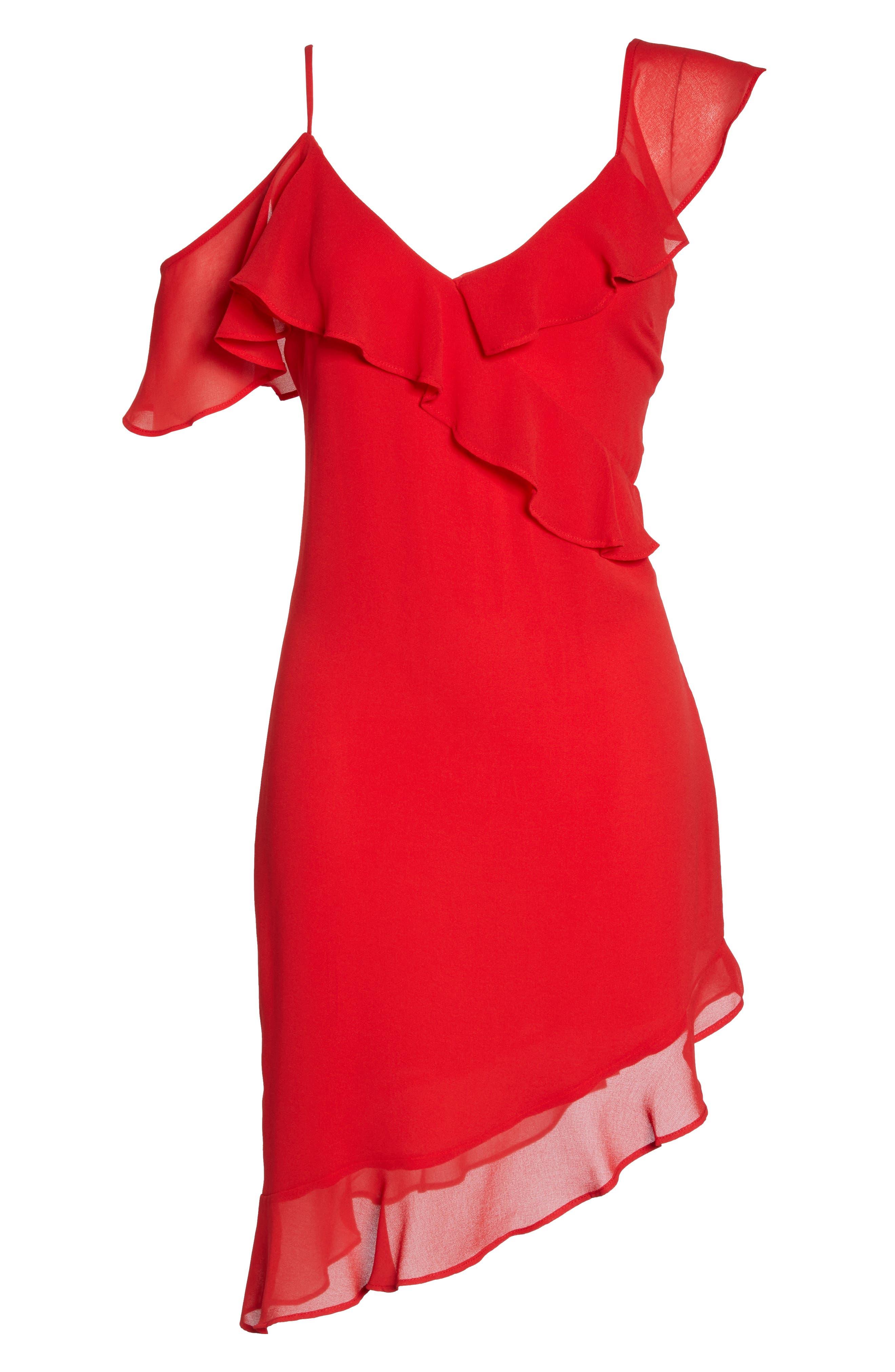 Ivie Asymmetrical Sheath Dress,                             Alternate thumbnail 6, color,                             624