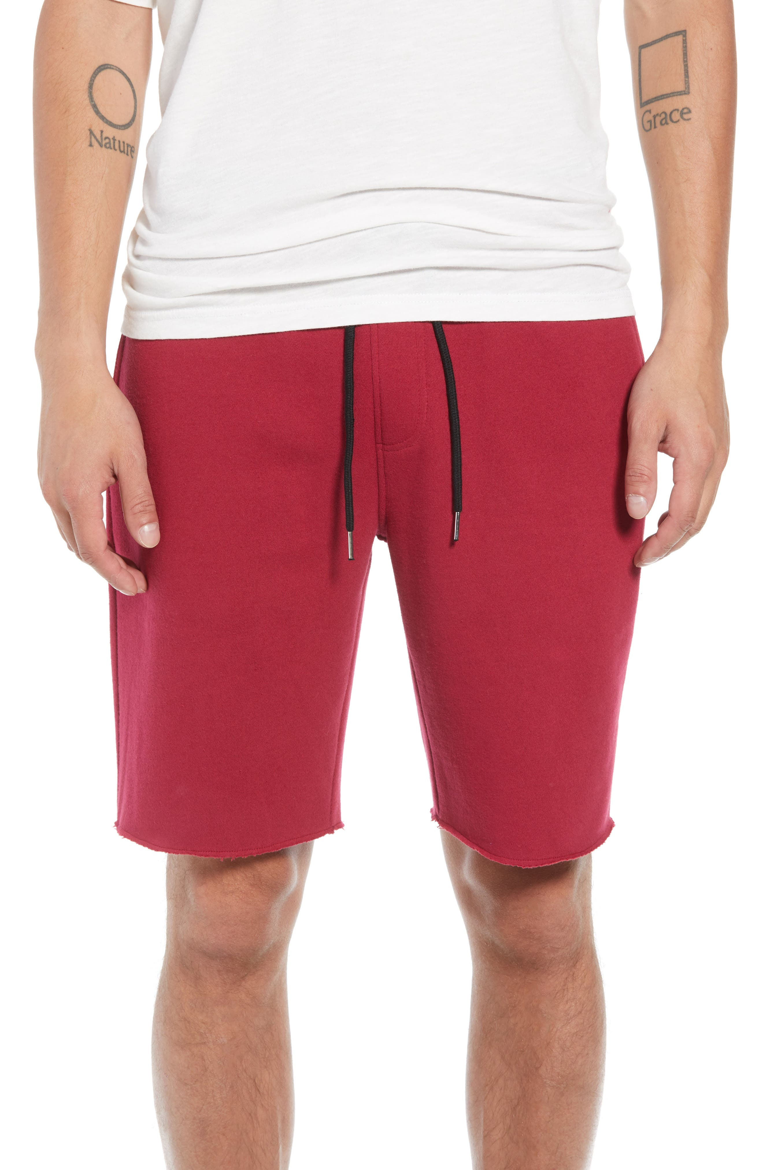 THE RAIL,                             Fleece Shorts,                             Main thumbnail 1, color,                             601