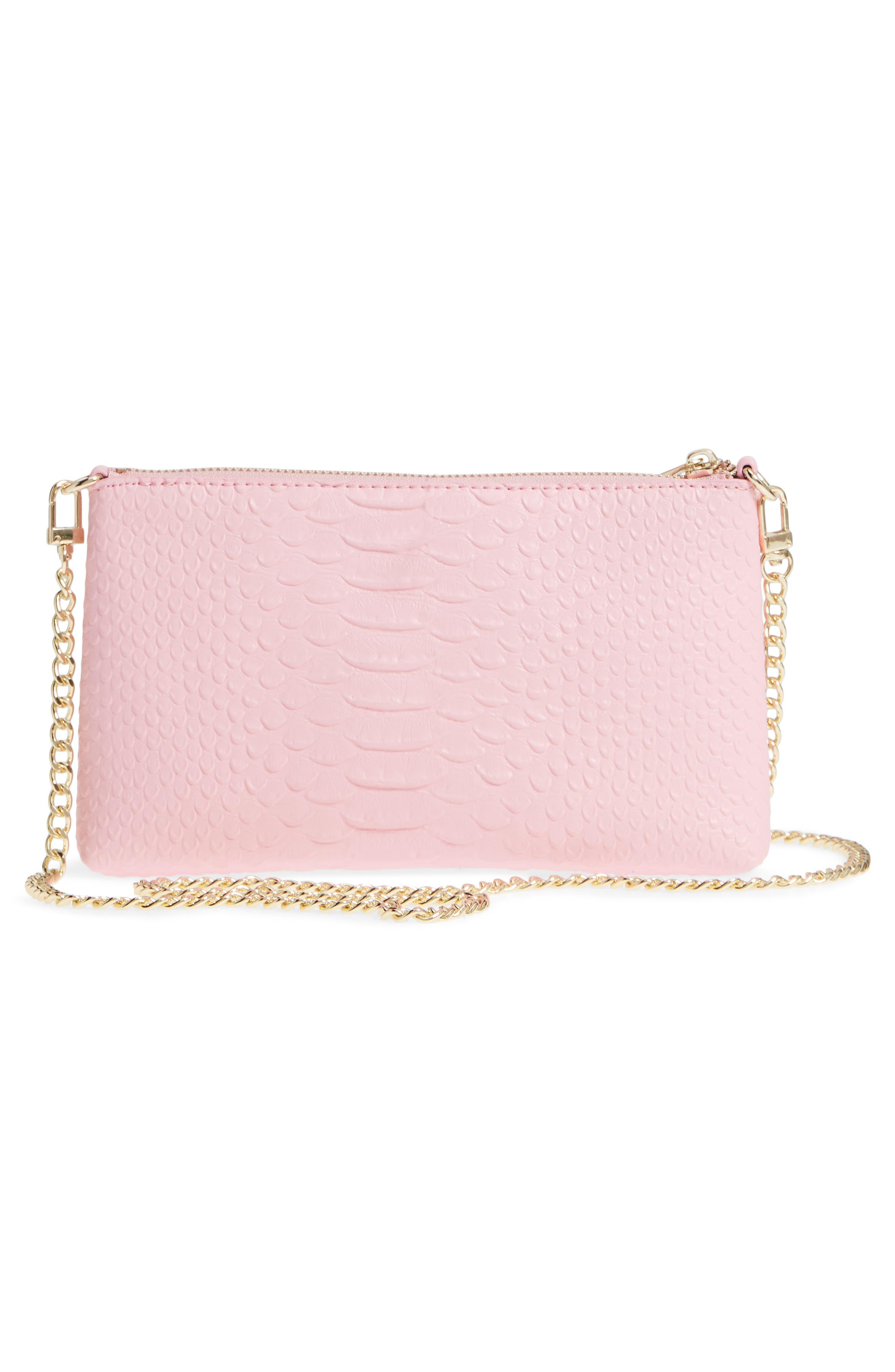 Lola Textured Faux Leather Crossbody Bag,                             Alternate thumbnail 6, color,