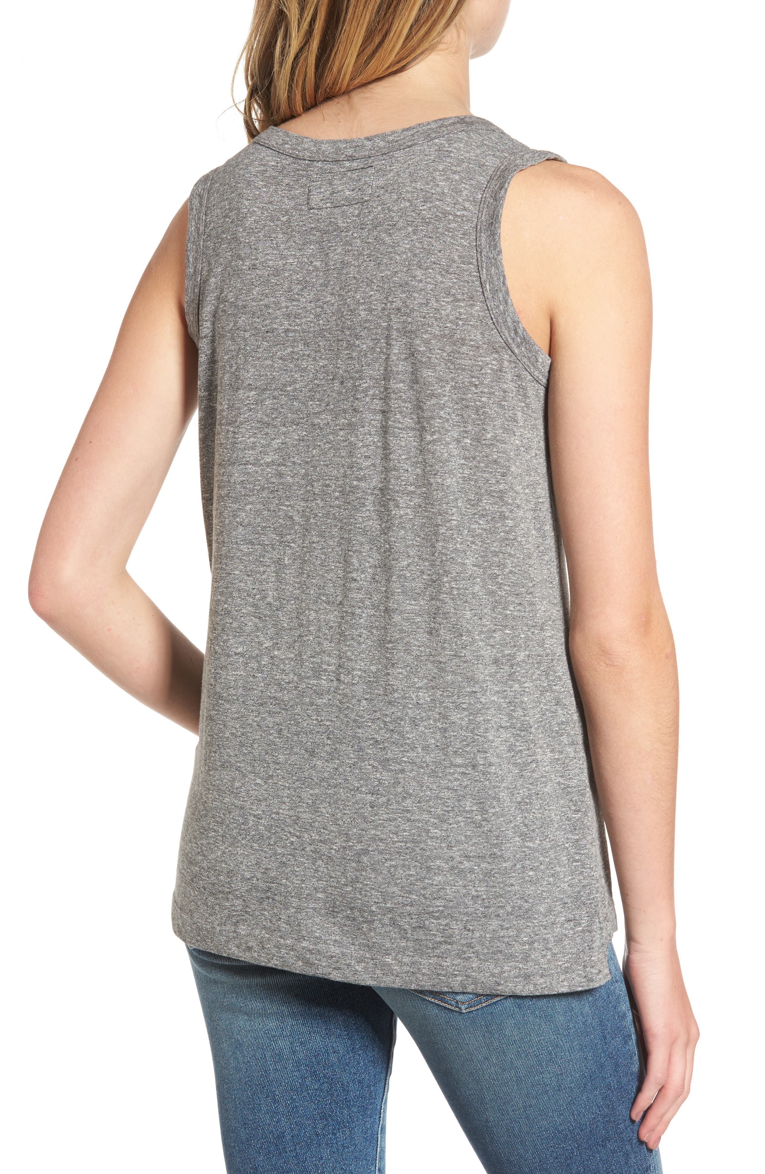 'The Muscle' Tee,                             Alternate thumbnail 3, color,                             HEATHER GREY