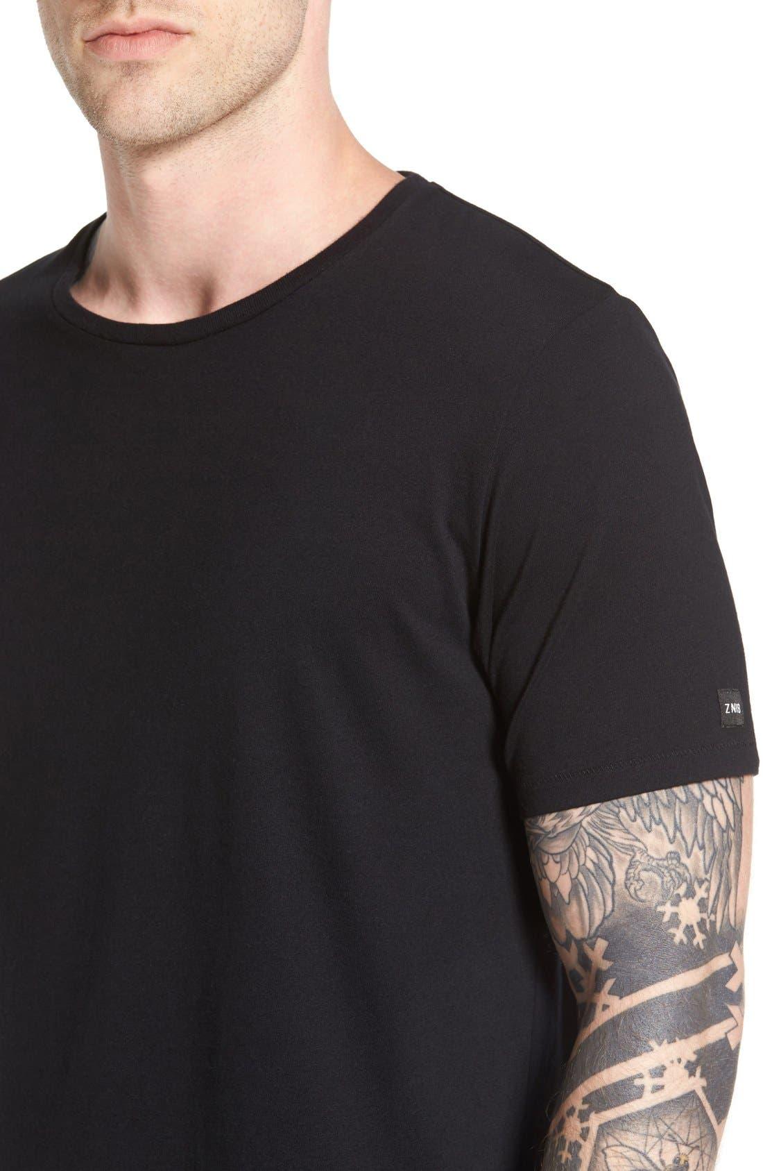 Flintlock Longline T-Shirt,                             Alternate thumbnail 5, color,                             001