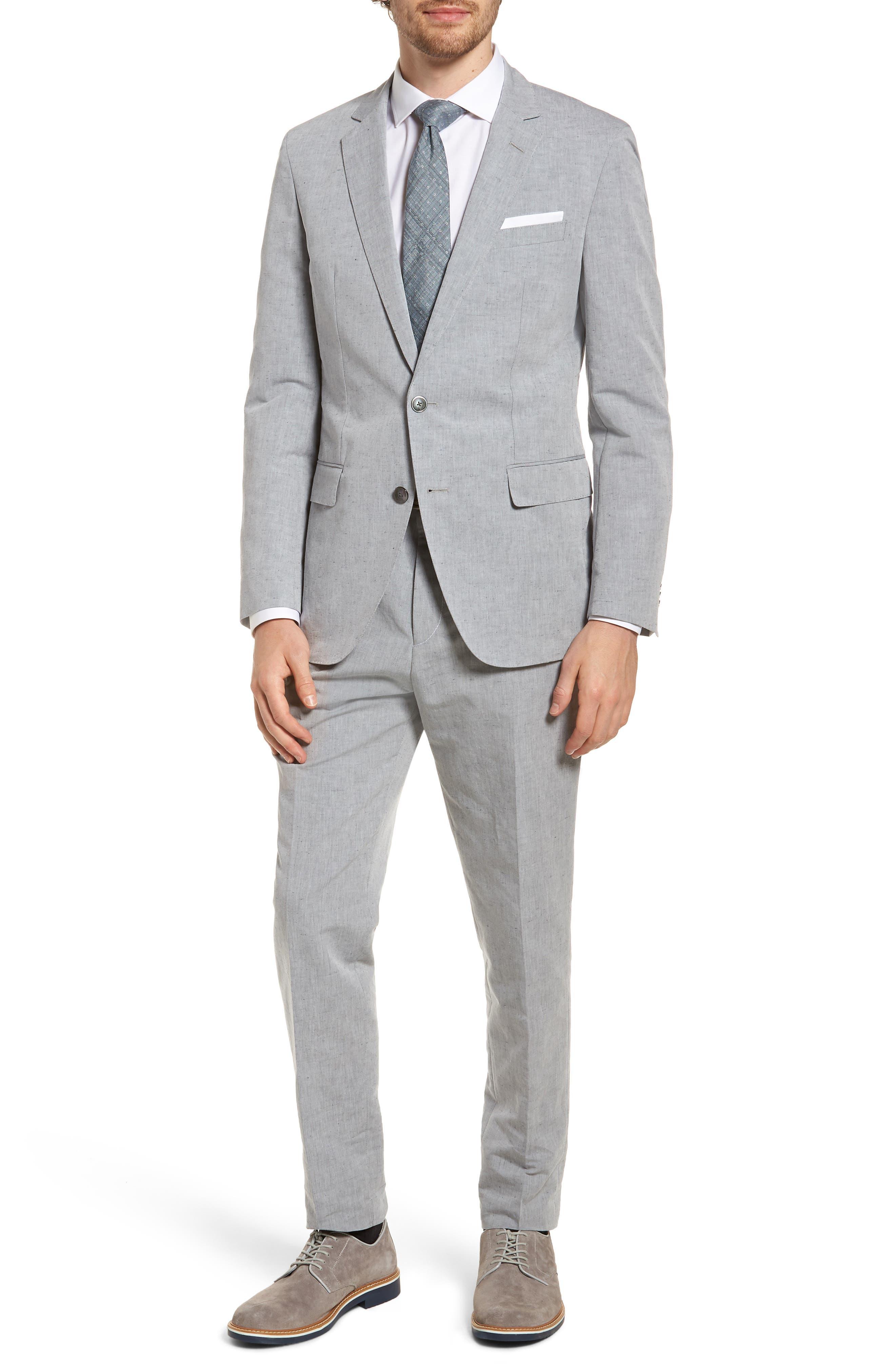 Pirko Flat Front Linen & Cotton Trousers,                             Alternate thumbnail 7, color,                             020