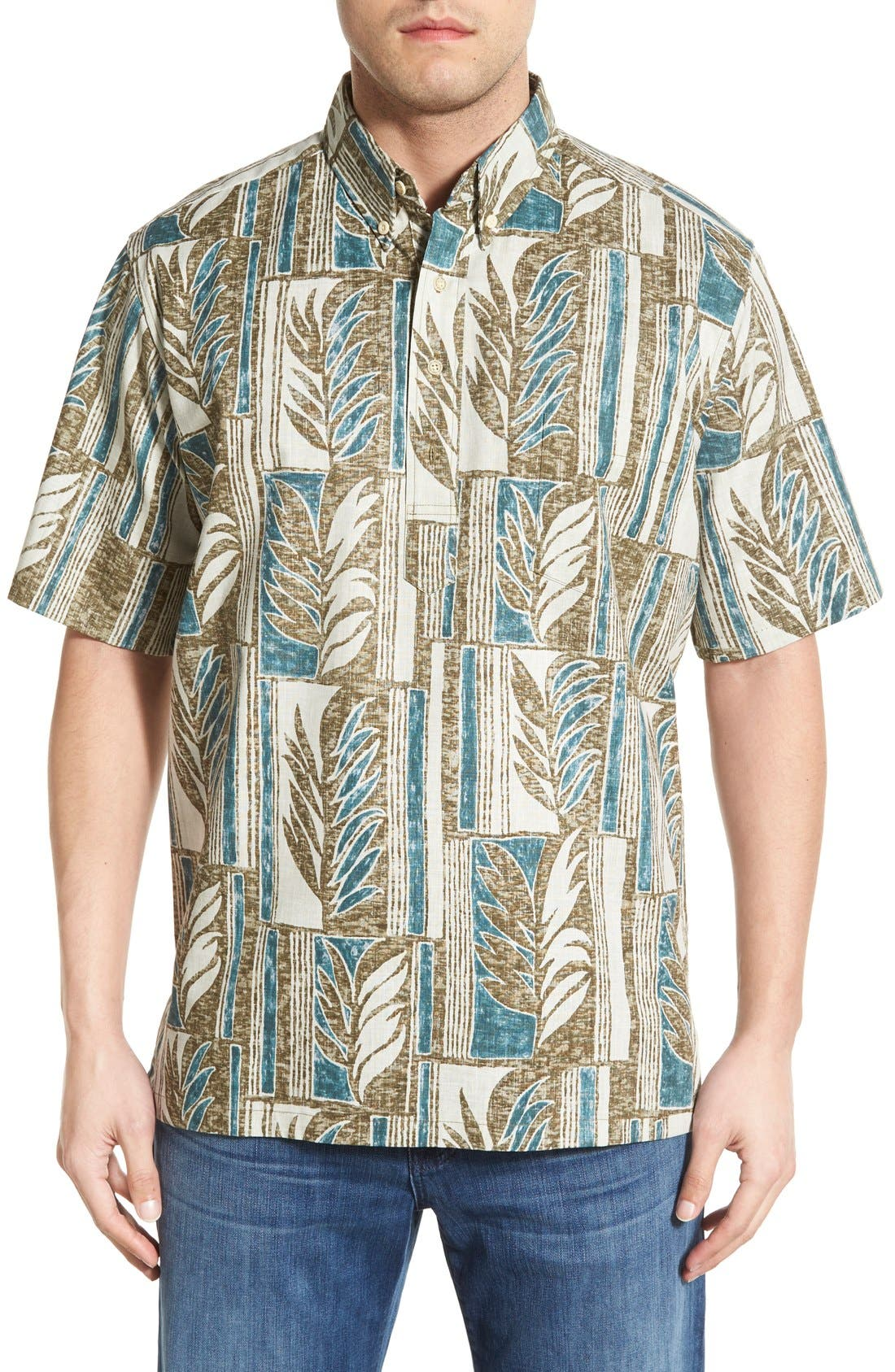 REYN SPOONER,                             'Lau Palaka' Classic Fit Wrinkle Free Pullover Shirt,                             Main thumbnail 1, color,                             321