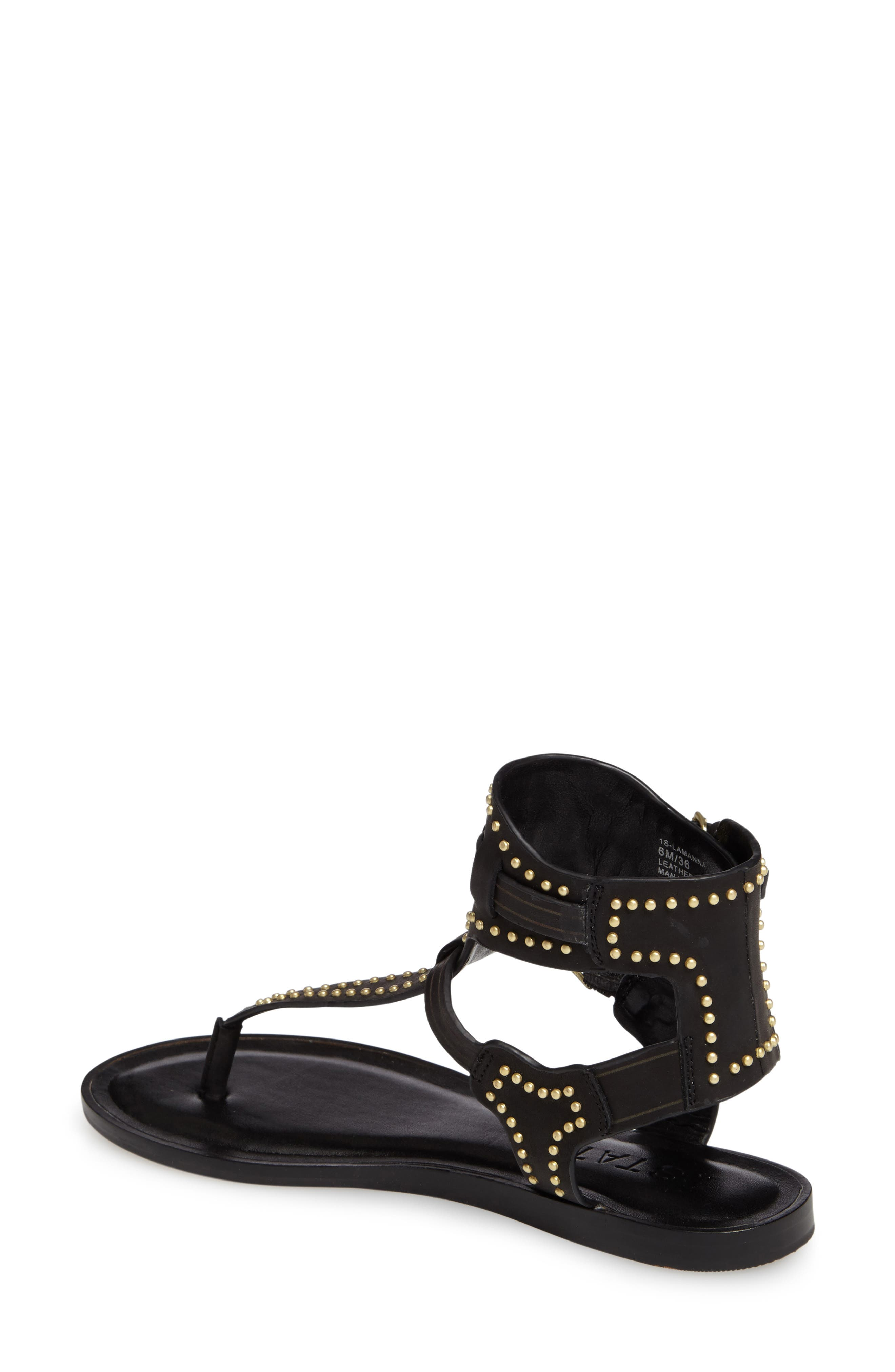 Lamanna Ankle Strap Sandal,                             Alternate thumbnail 2, color,                             001
