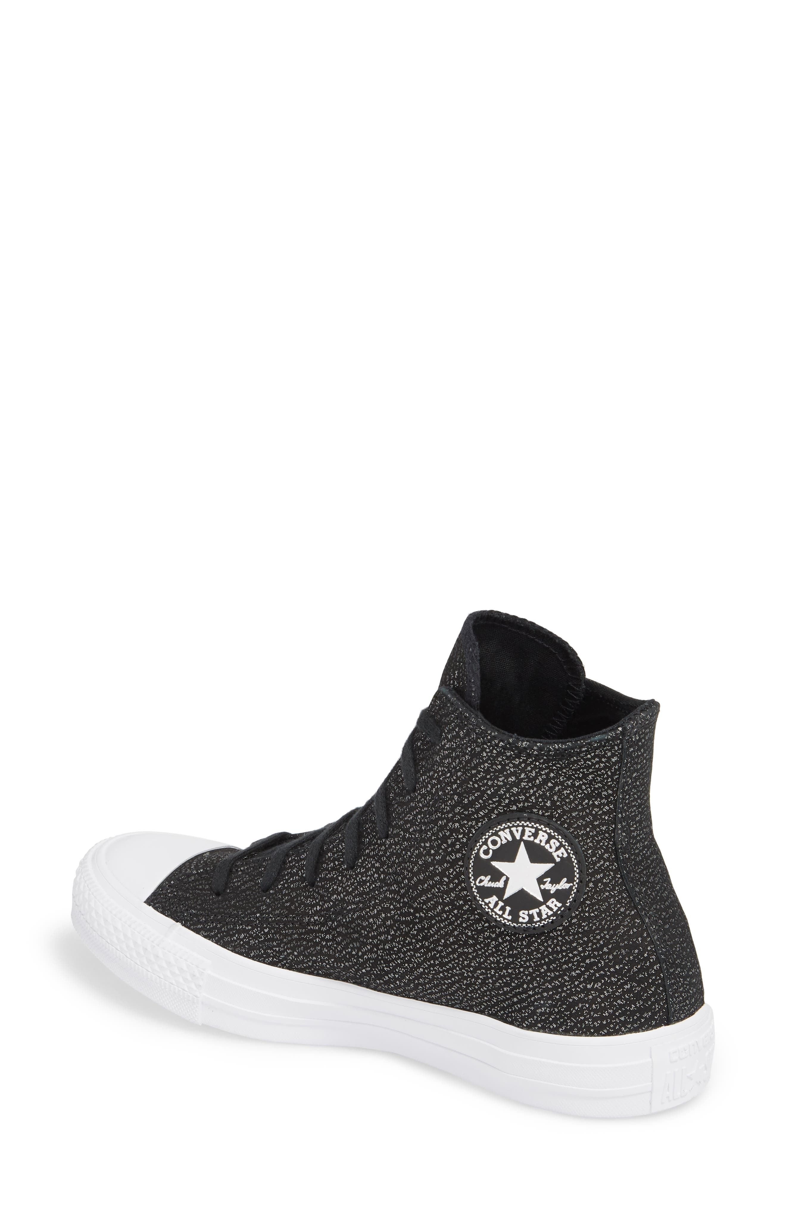Chuck Taylor<sup>®</sup> All Star<sup>®</sup> Tipped Metallic High Top Sneaker,                             Alternate thumbnail 4, color,