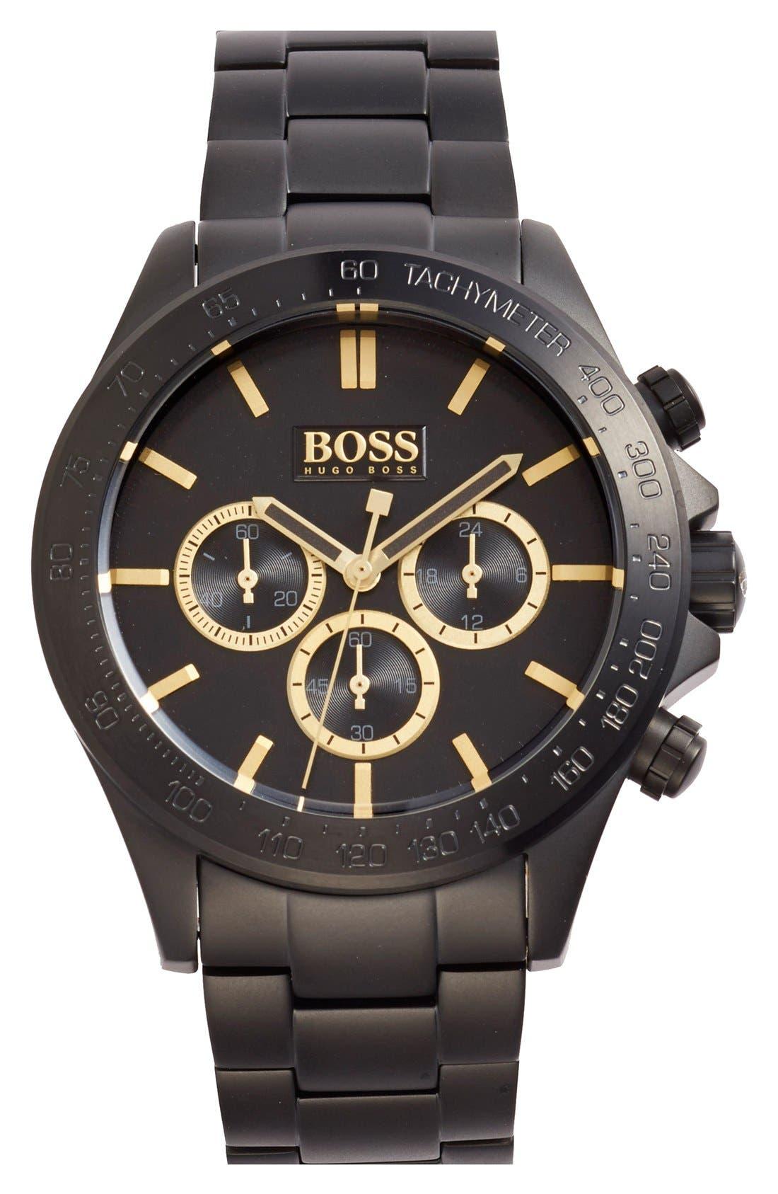 'Ikon' Chronograph Bracelet Watch, 44mm,                         Main,                         color, 001