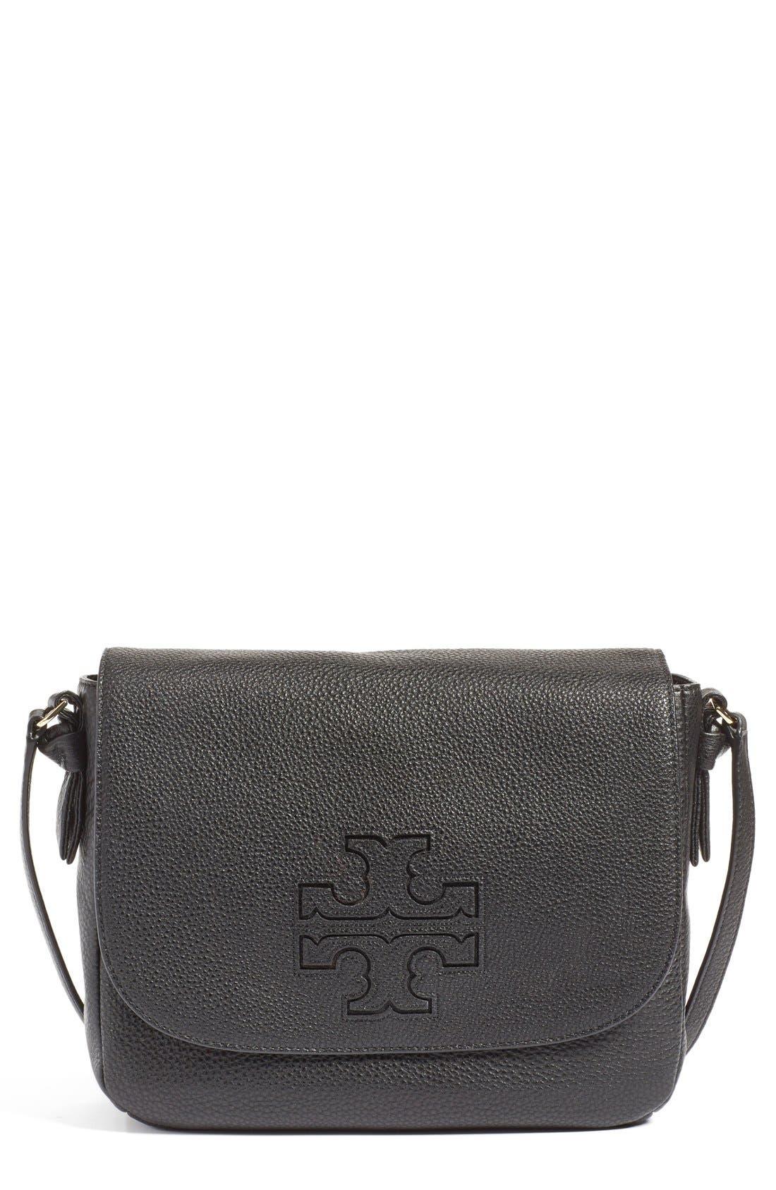'Harper' Leather Crossbody Bag,                             Main thumbnail 1, color,                             012