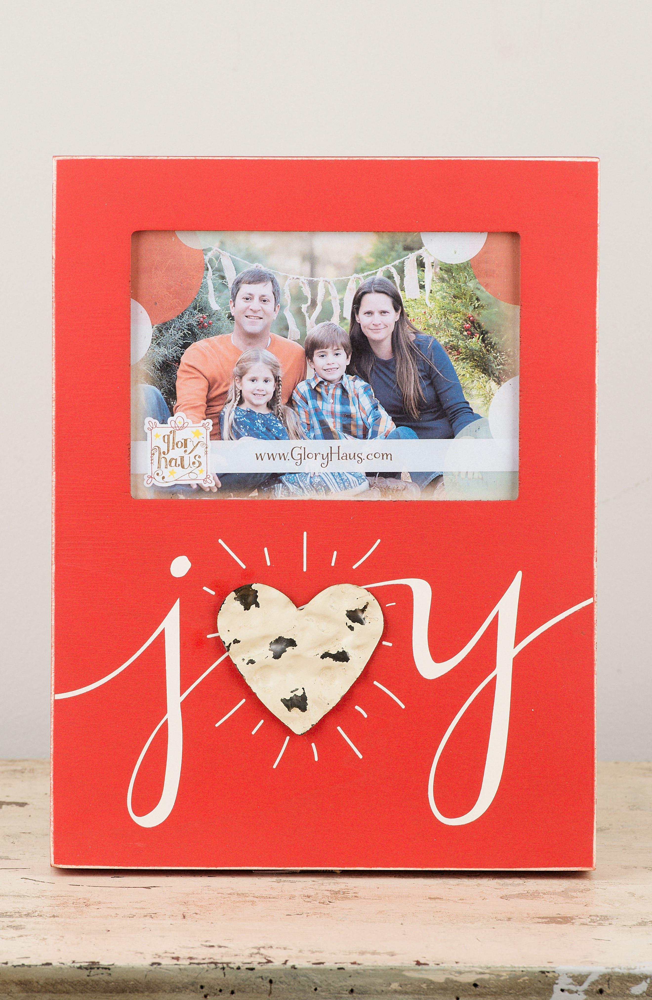 Joy Wooden Picture Frame,                             Alternate thumbnail 2, color,                             600