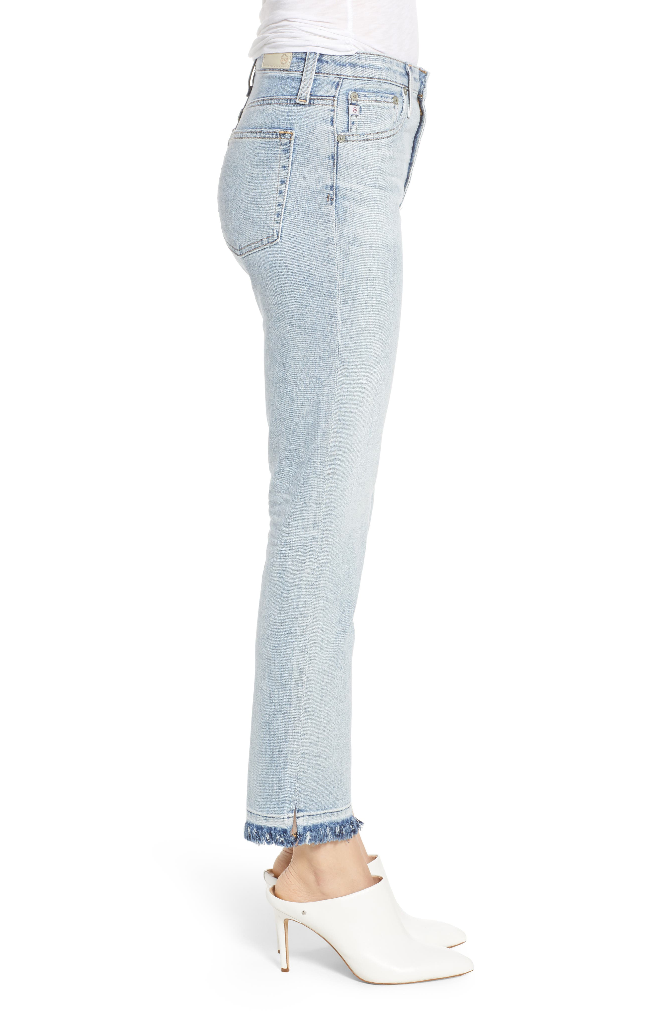 The Isabelle High Waist Crop Straight Leg Jeans,                             Alternate thumbnail 3, color,                             439