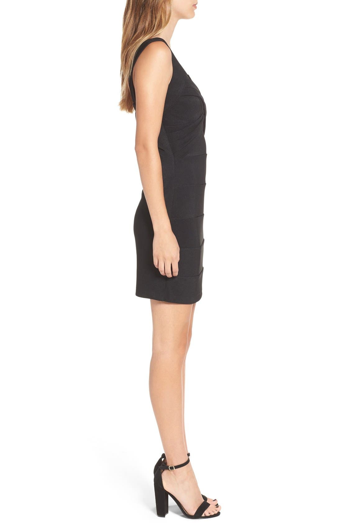 LOVE, NICKIE LEW,                             Cross Front Body-Con Dress,                             Alternate thumbnail 4, color,                             001