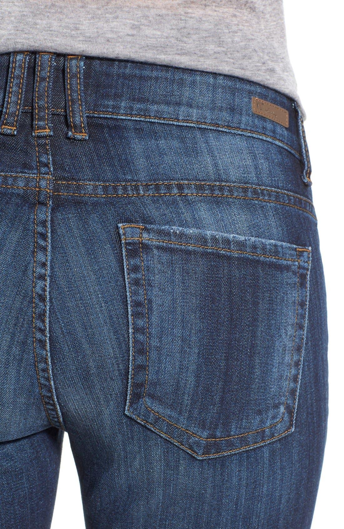 'Catherine' Stretch Boyfriend Jeans,                             Alternate thumbnail 4, color,                             402