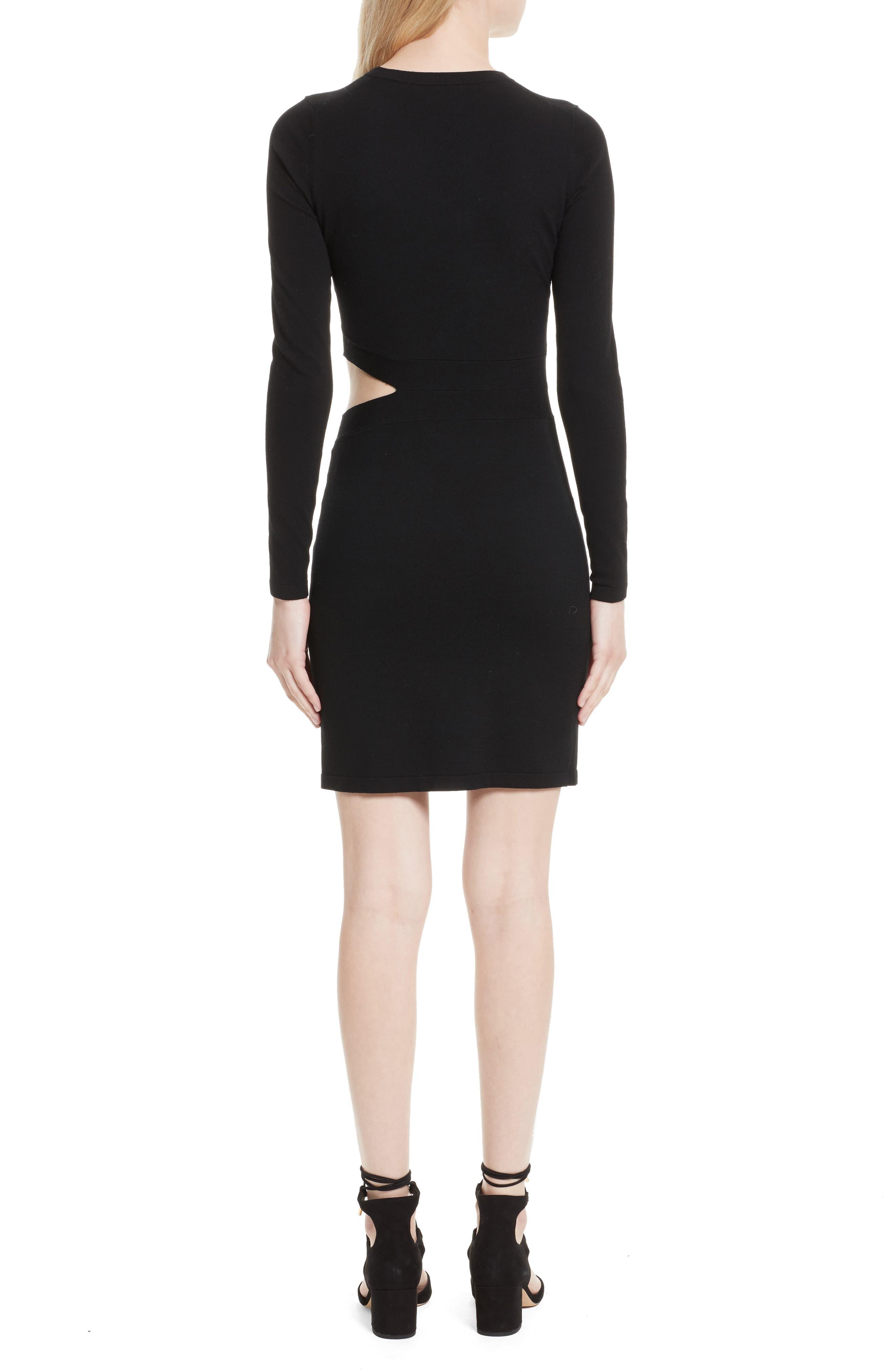 Railey Cutout Dress,                             Alternate thumbnail 2, color,                             001
