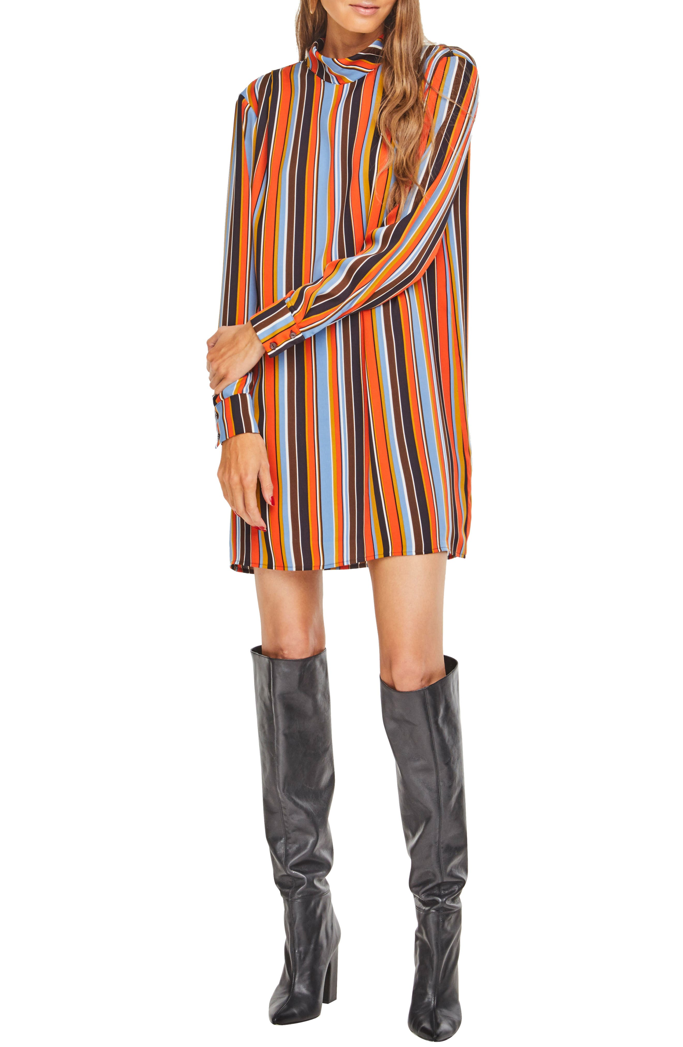 Astr The Label Culver Shift Dress, Orange