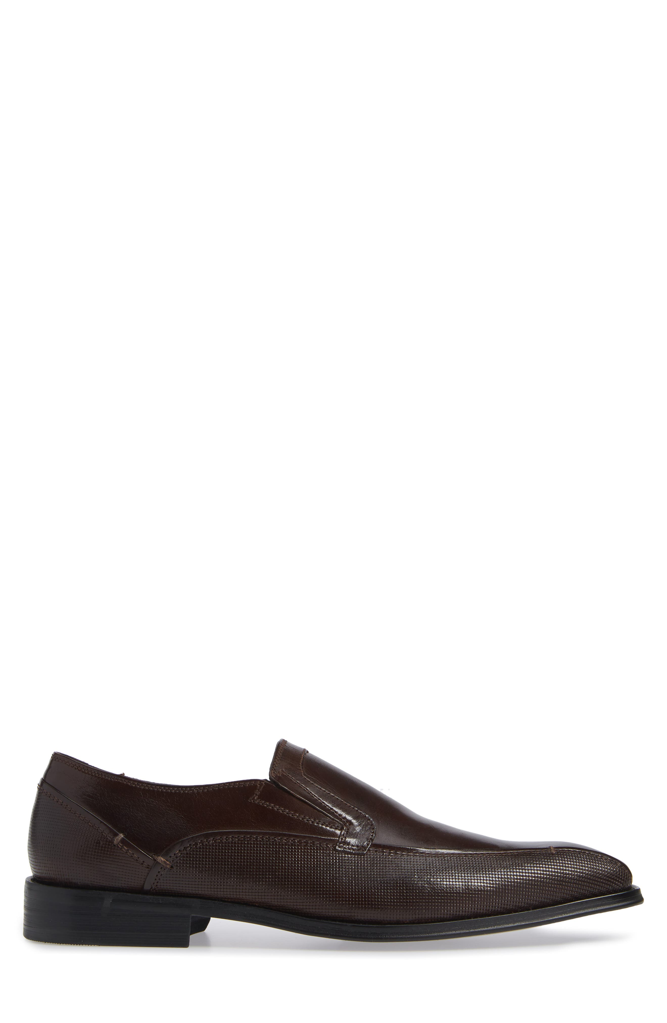 Witter Bike Toe Loafer,                             Alternate thumbnail 3, color,                             BROWN LEATHER