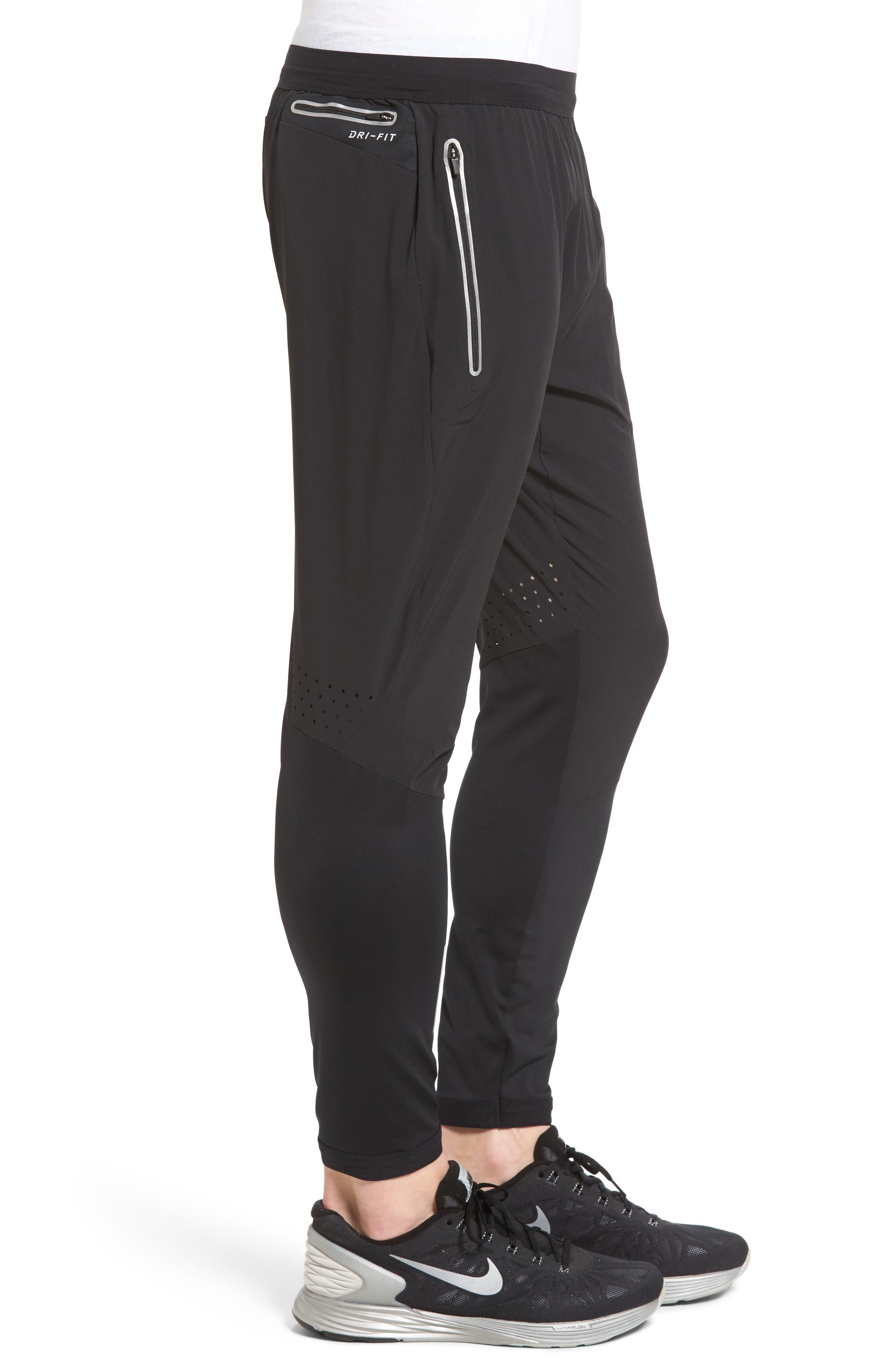 Flex Running Pants,                             Alternate thumbnail 3, color,                             BLACK/ PURE PLATINUM
