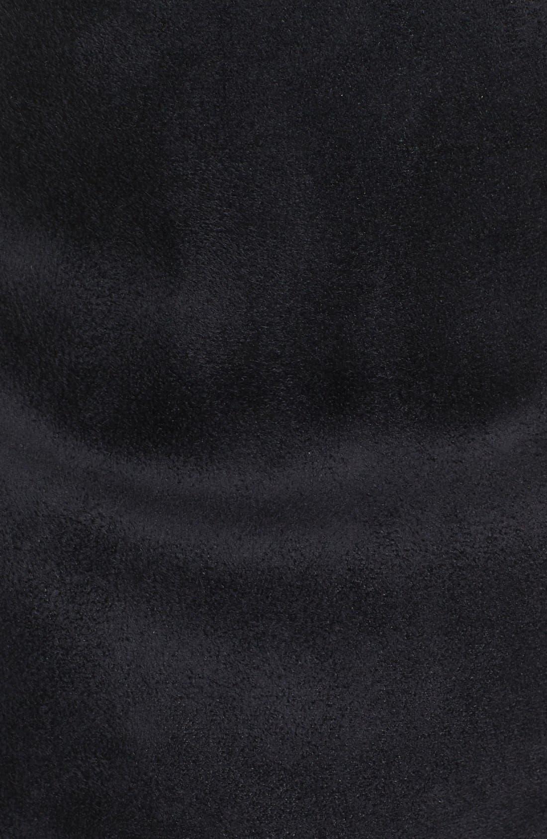 Faux Fur Collar Vest,                             Alternate thumbnail 3, color,                             002