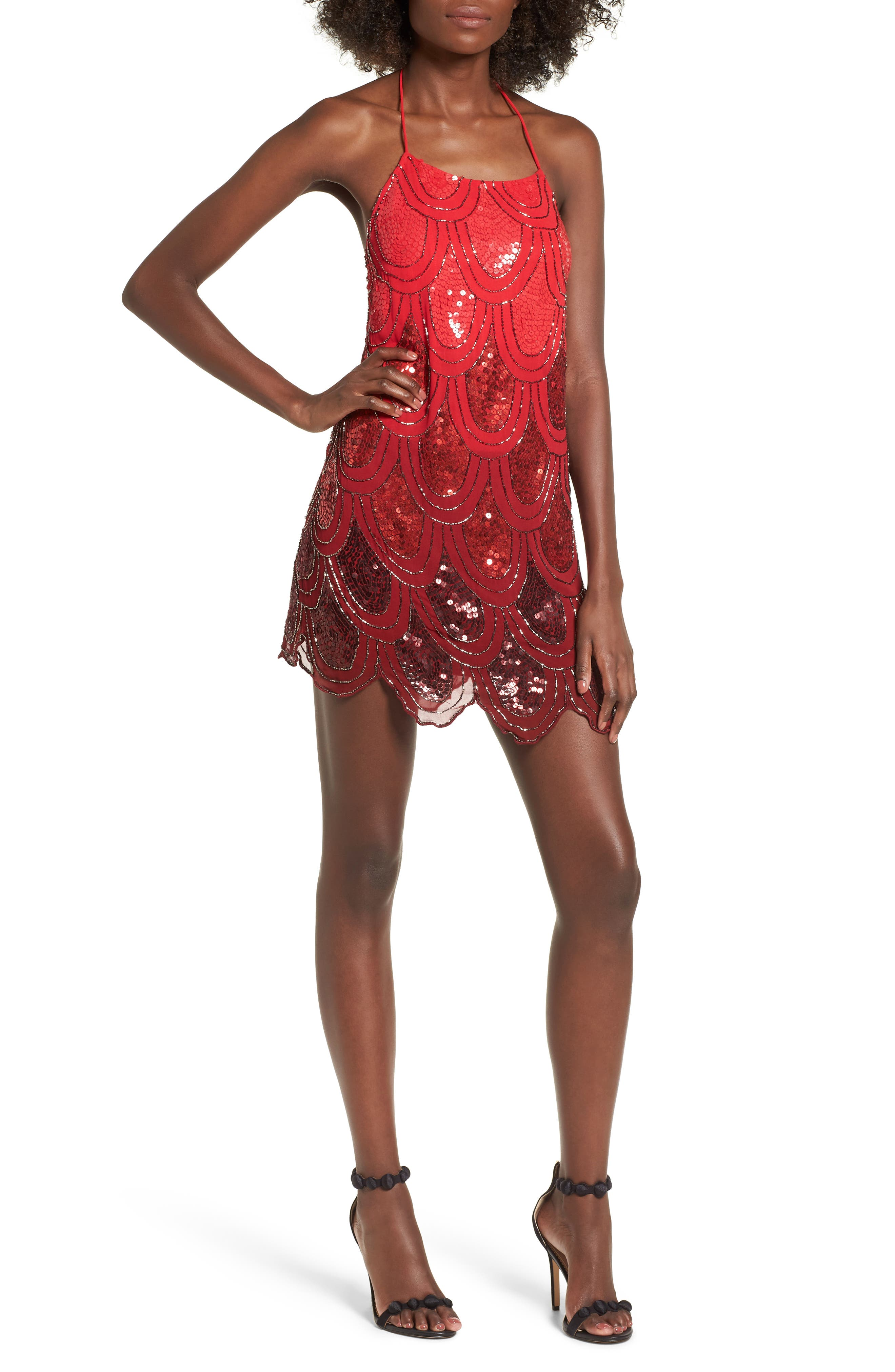 Dame Sequin Minidress,                             Main thumbnail 1, color,