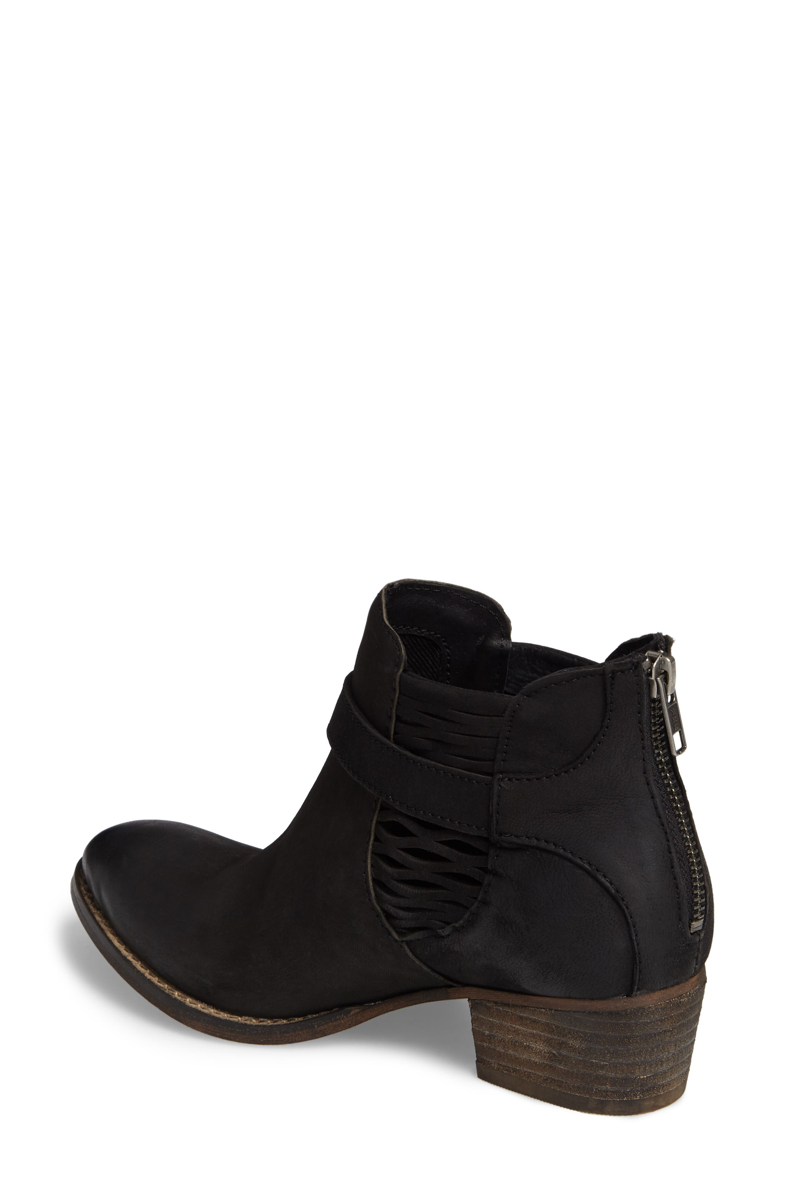 Yara Perforated Chelsea Bootie,                             Alternate thumbnail 2, color,                             001