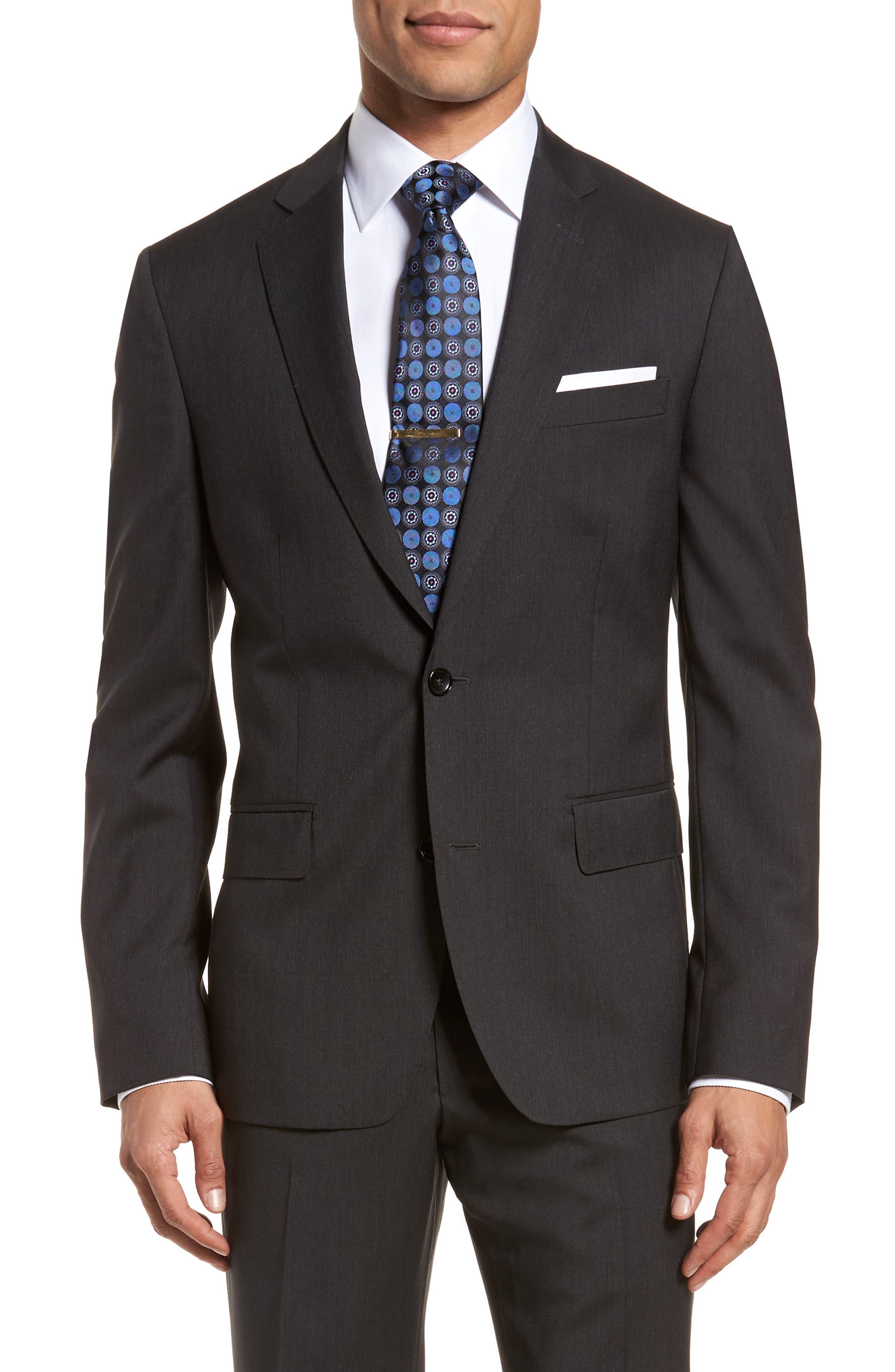 Classic Fit Check Suit,                             Alternate thumbnail 5, color,                             020