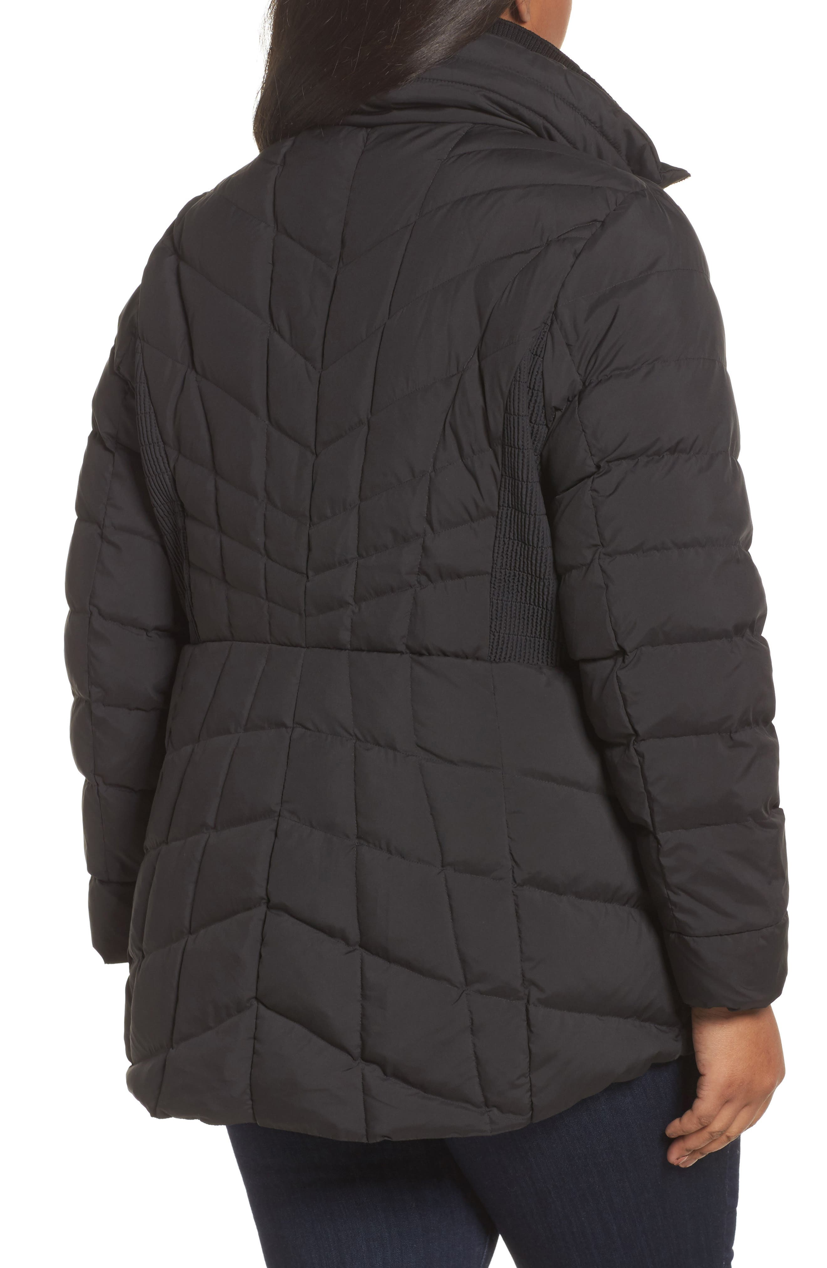 Packable Water Resistant Down & PrimaLoft<sup>®</sup> Coat,                             Alternate thumbnail 3, color,