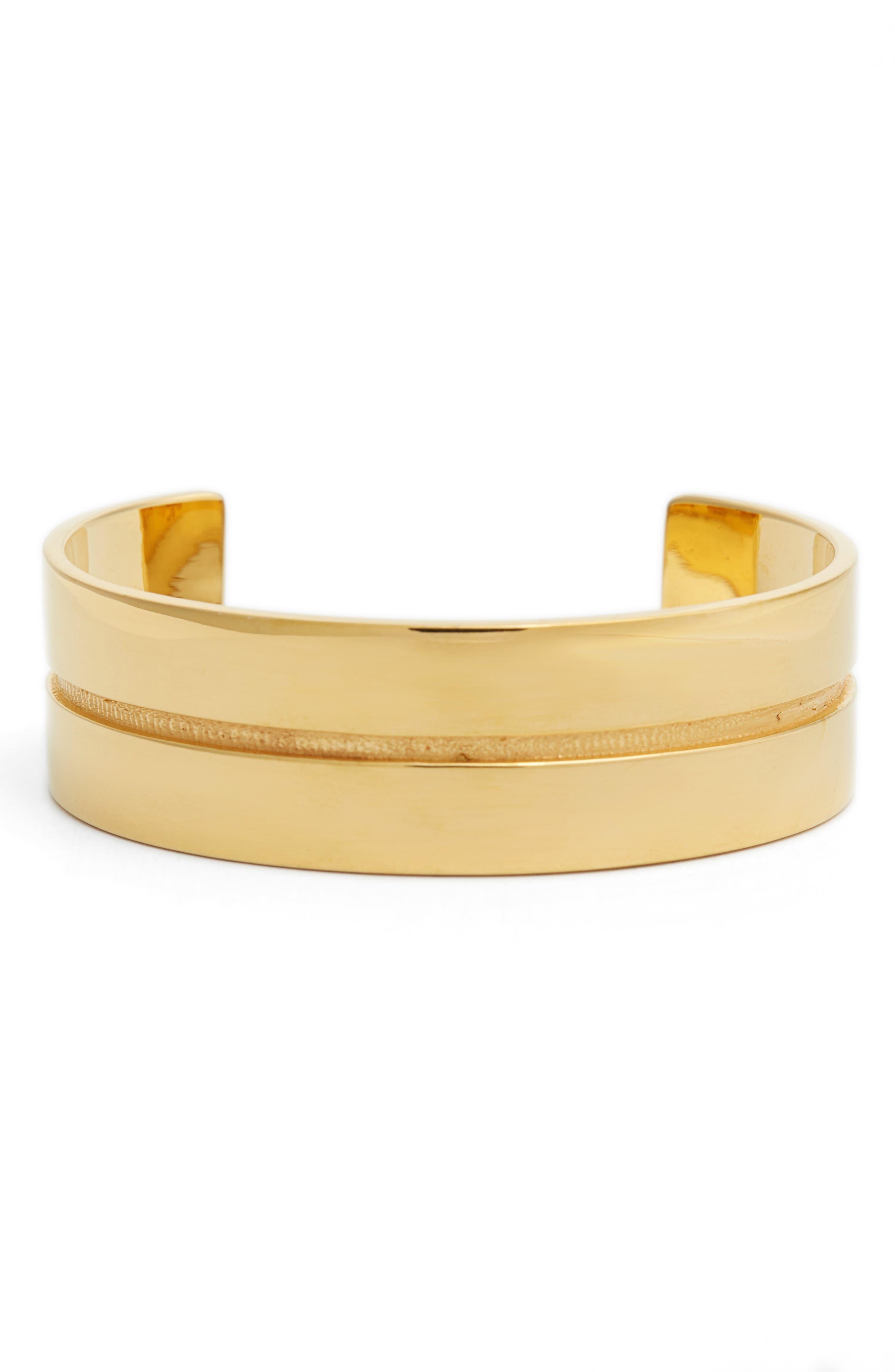 Mapplethorpe 2 Vermeil Cuff Bracelet,                         Main,                         color,
