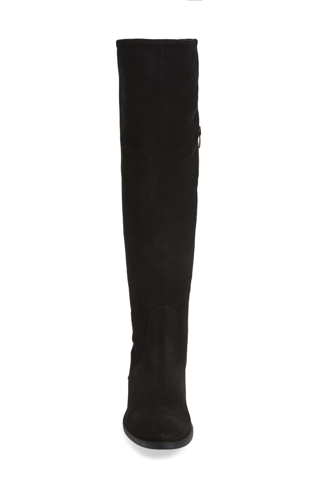 'Tallin' Over-The-Knee Riding Boot,                             Alternate thumbnail 2, color,                             BLACK SUEDE