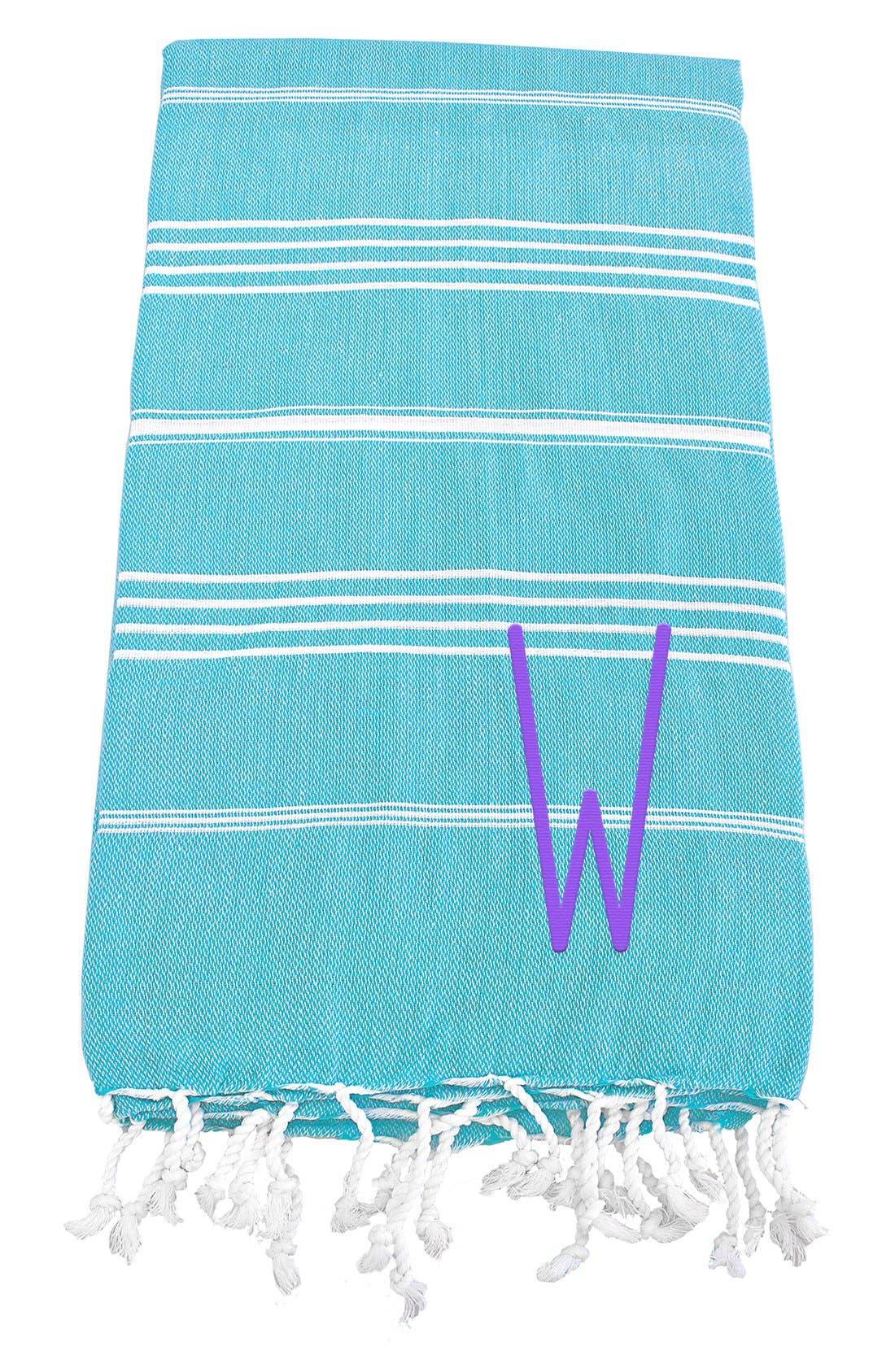 Monogram Turkish Cotton Towel,                             Main thumbnail 105, color,
