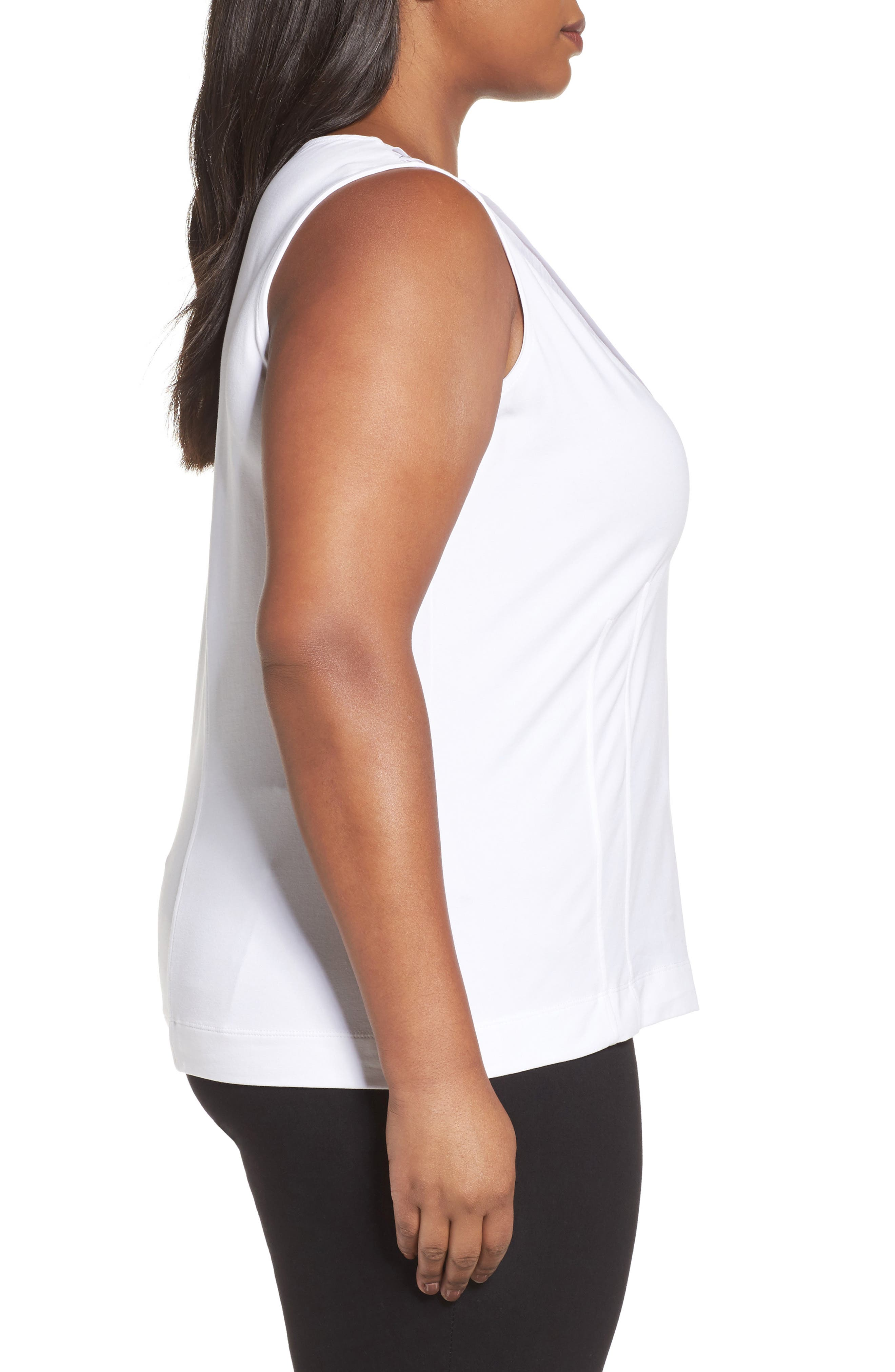 'Sweet Pleat' Sleeveless Top,                             Alternate thumbnail 3, color,                             123