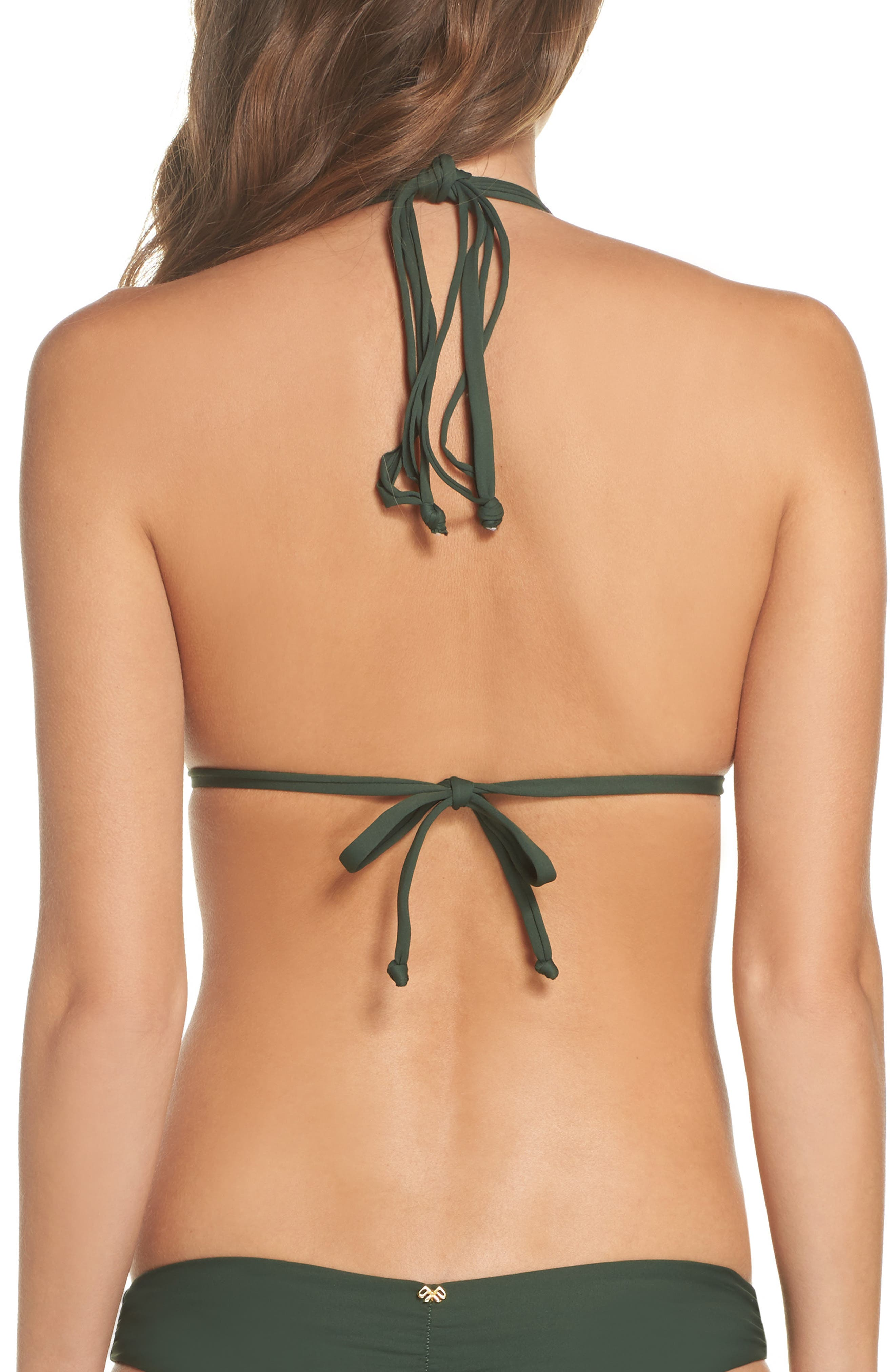 Isla Macramé Bikini Top,                             Alternate thumbnail 2, color,                             ARMY