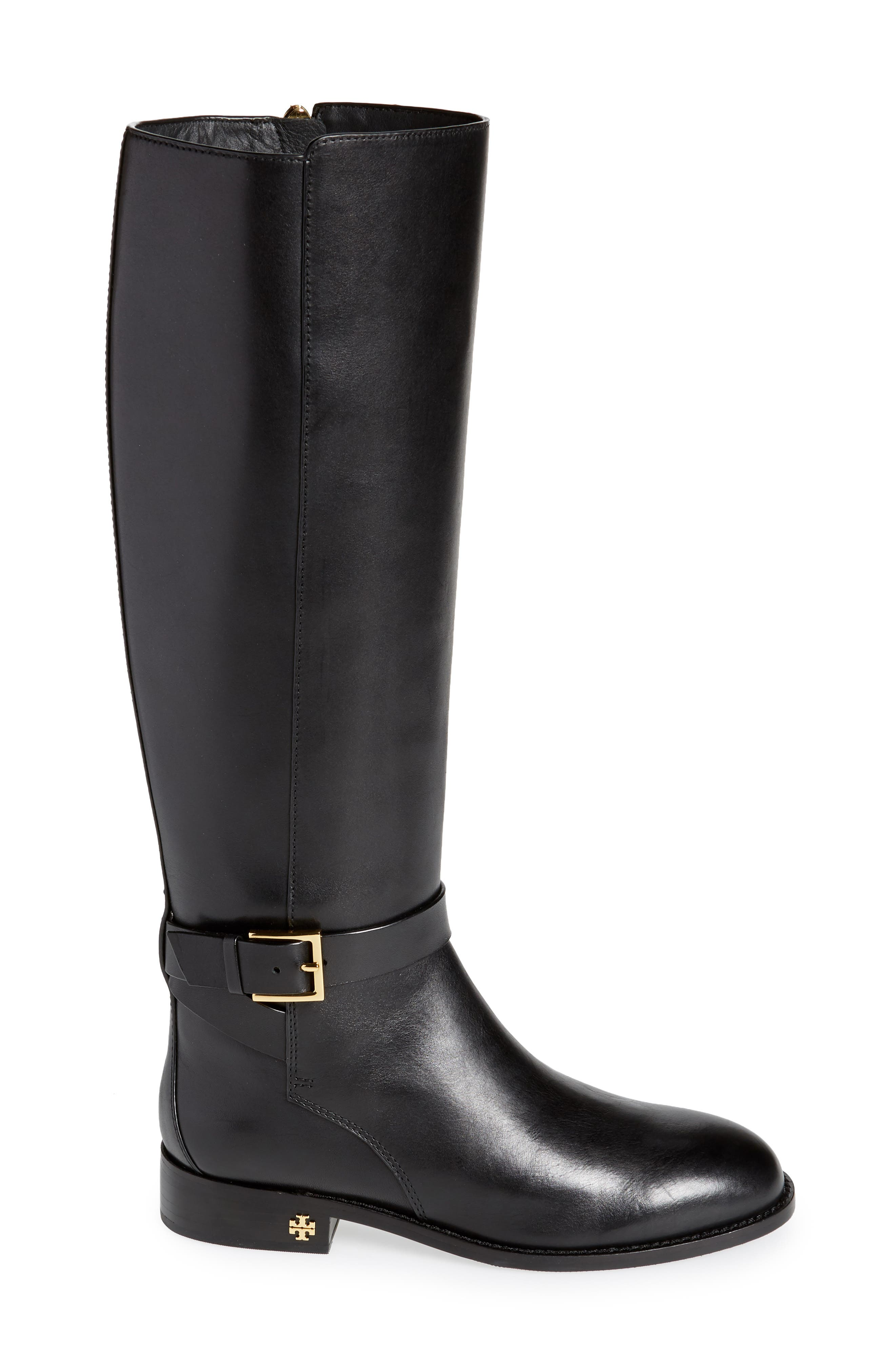 Brooke Knee High Boot,                             Alternate thumbnail 3, color,                             PERFECT BLACK