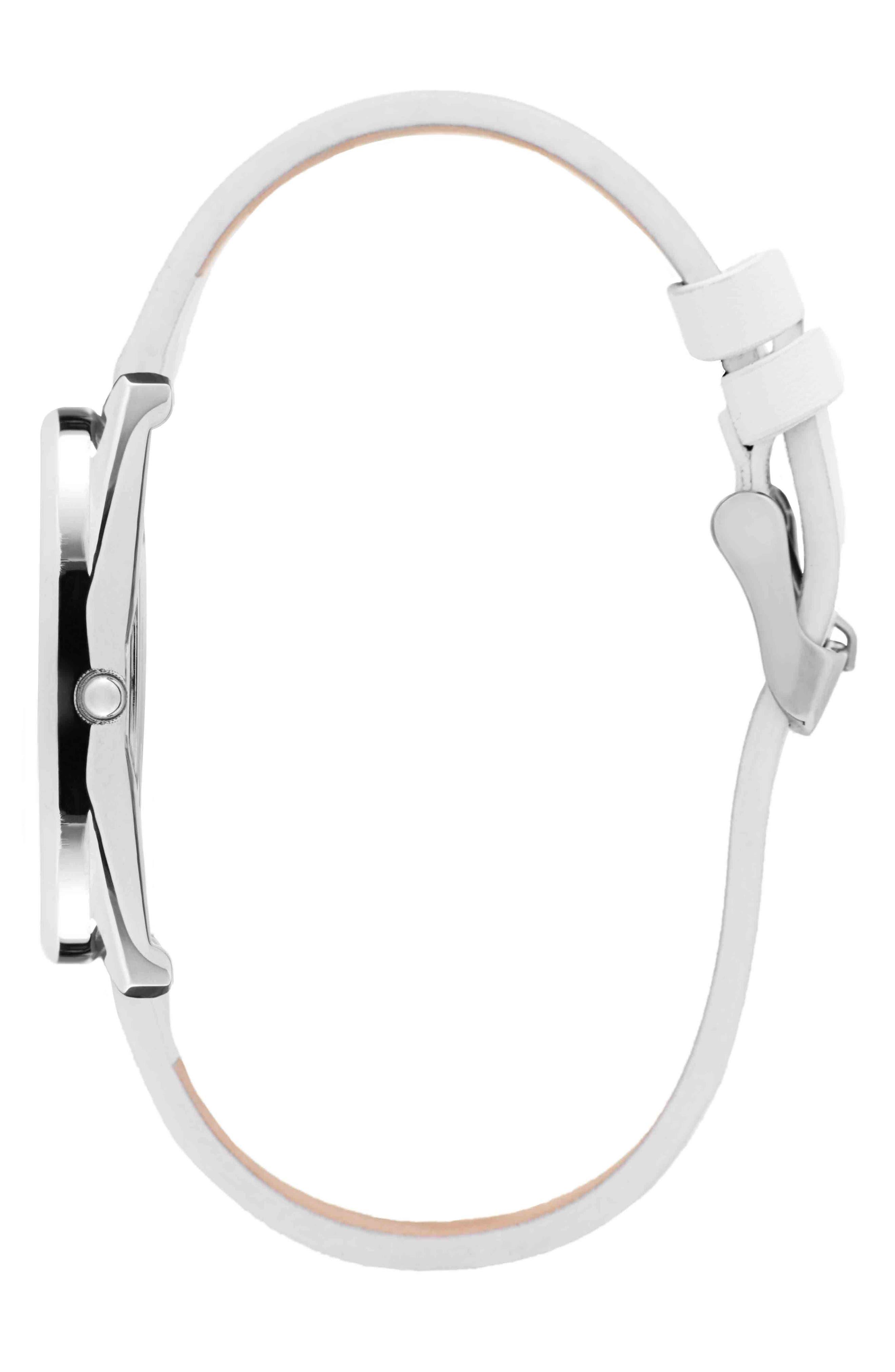 Leonard & Church Chelsea Leather Strap Watch, 34mm,                             Alternate thumbnail 8, color,