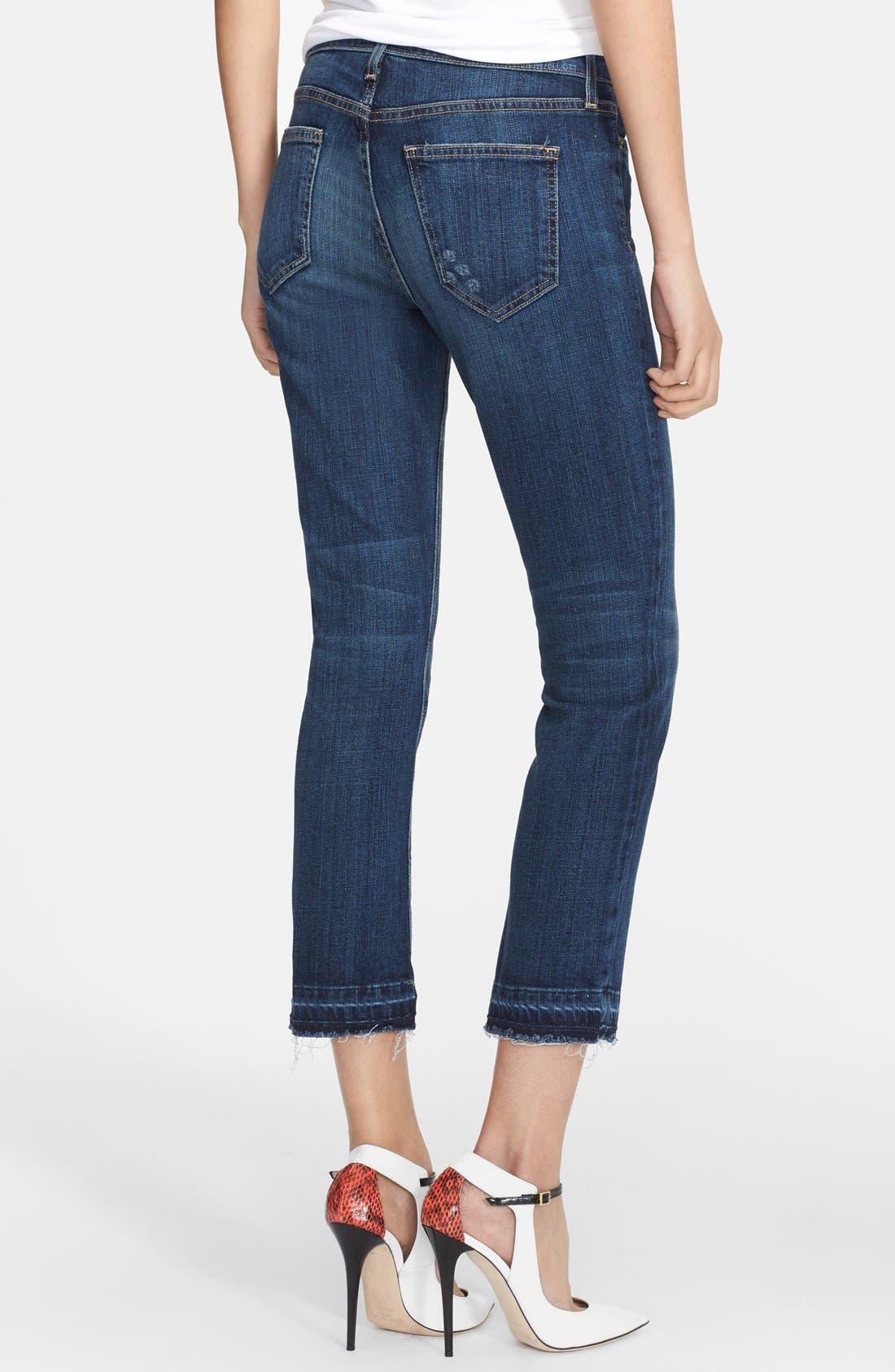The Cropped Straight Released Hem Jeans,                             Alternate thumbnail 3, color,                             464