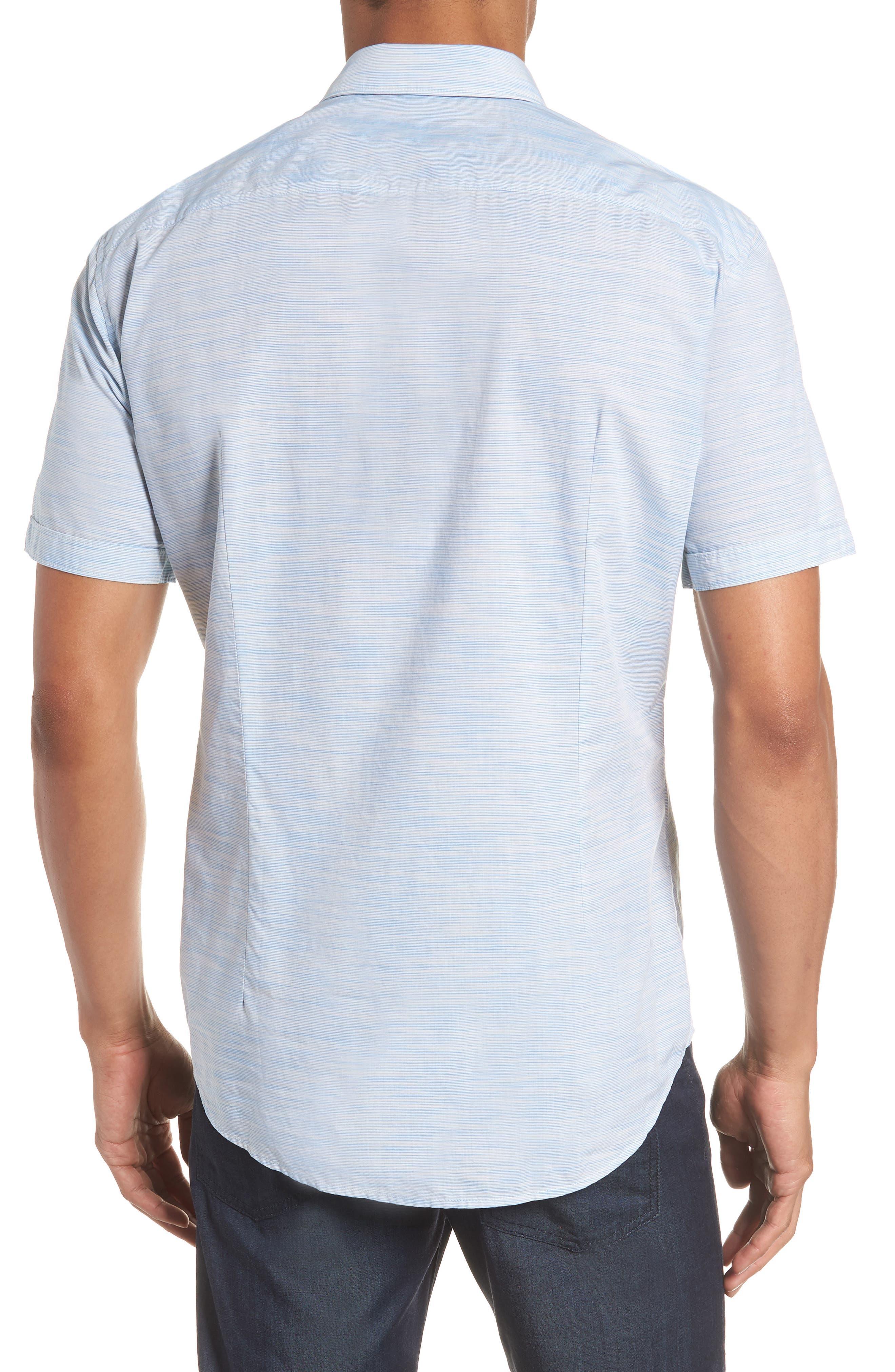 Space Dyed Trim Fit Sport Shirt,                             Alternate thumbnail 3, color,                             470