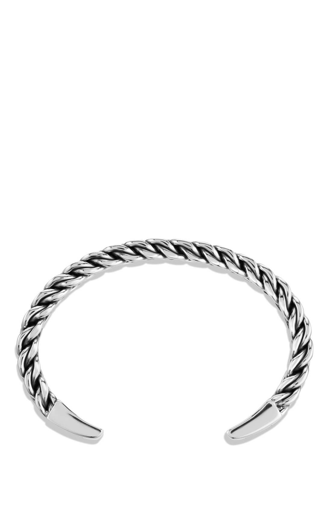 'Chain' Woven Cuff Bracelet,                             Alternate thumbnail 2, color,                             SILVER