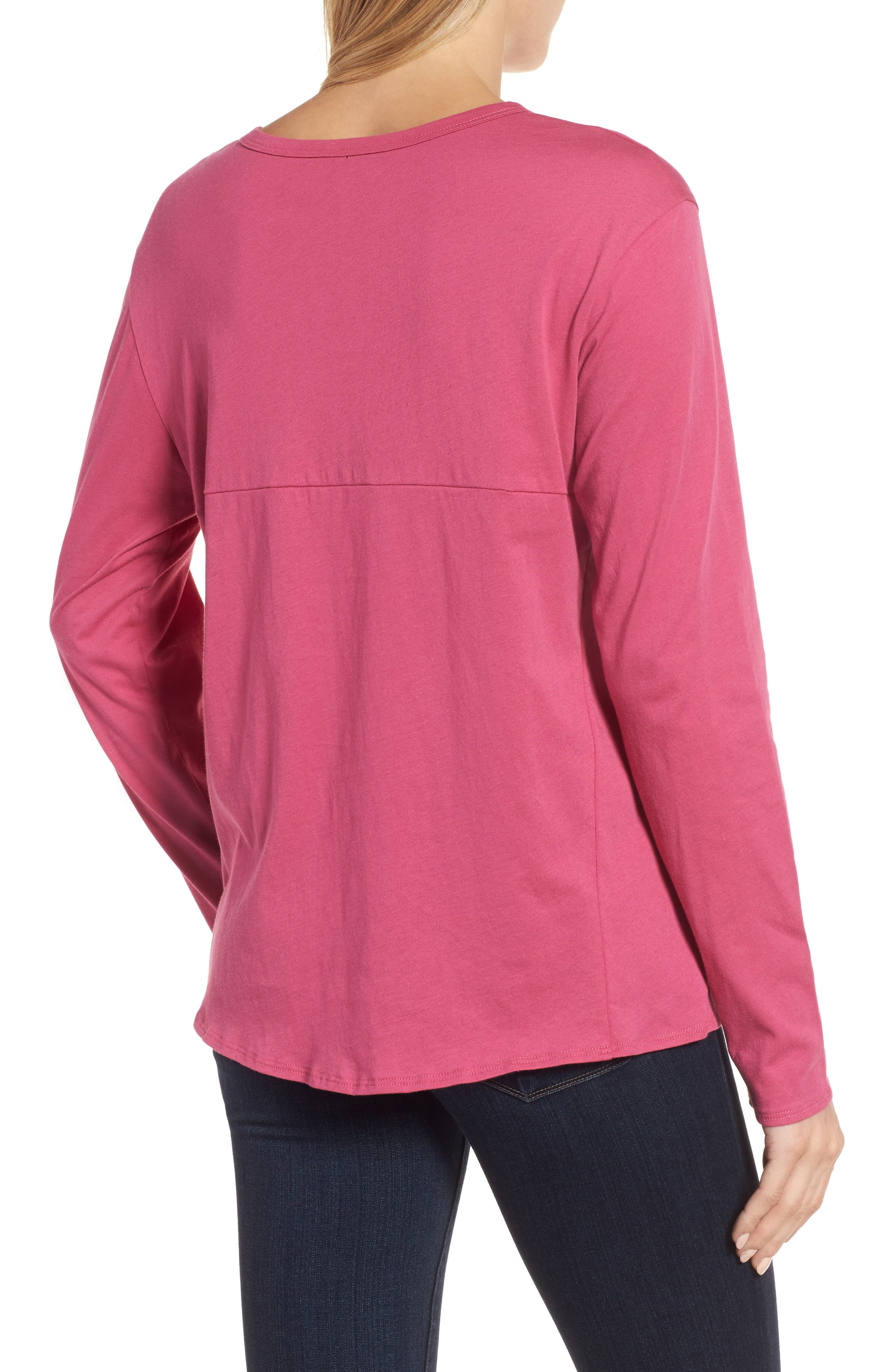 Long Sleeve Side Tie Tee,                             Alternate thumbnail 12, color,