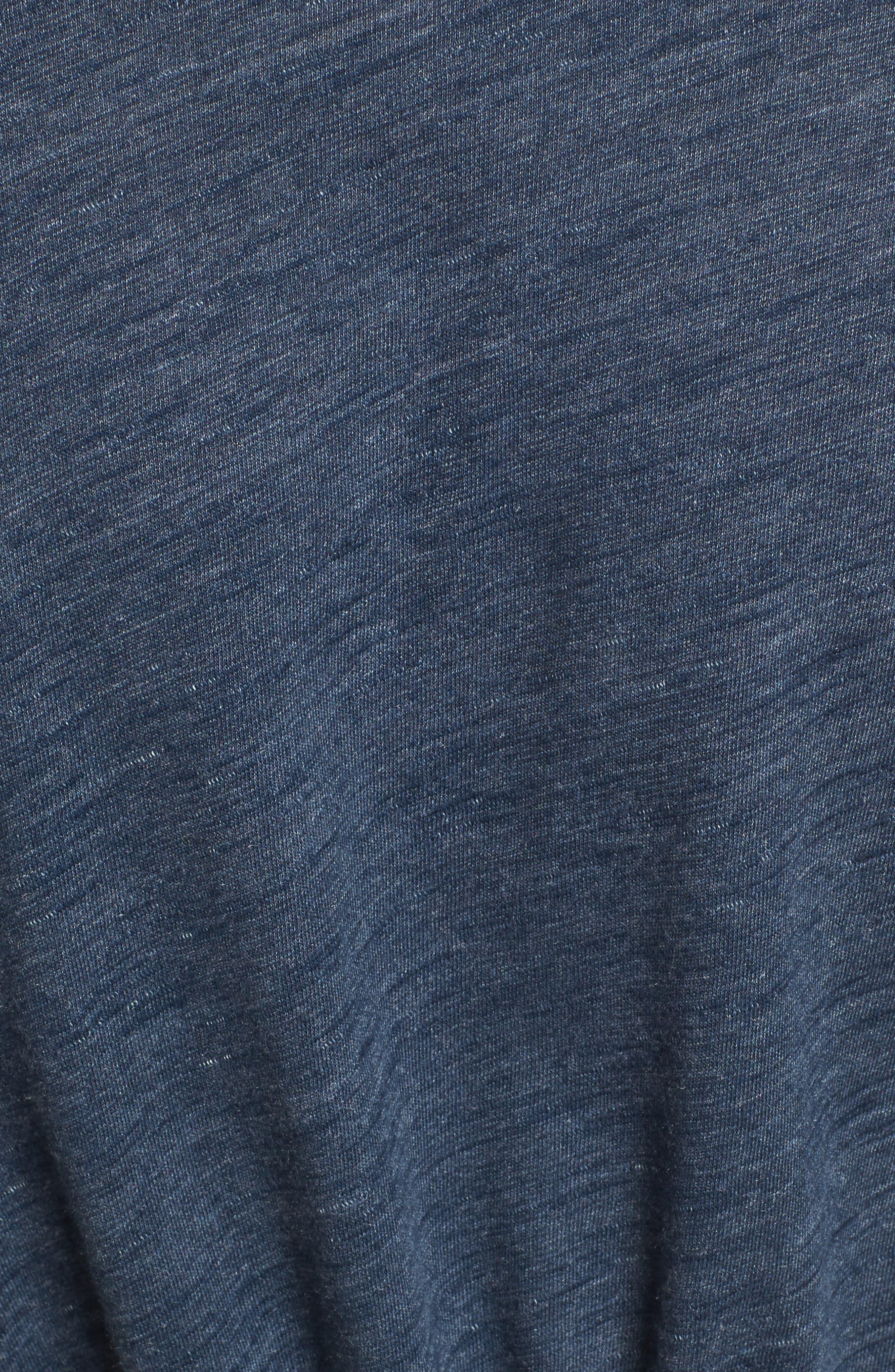 Side Tie Midi T-Shirt Dress,                             Alternate thumbnail 14, color,