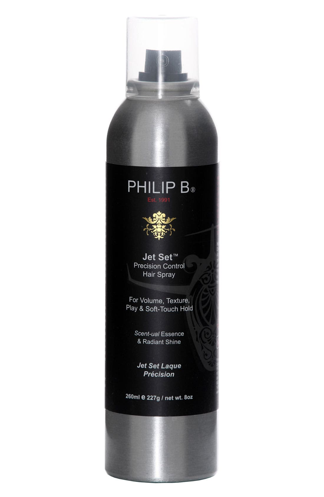 SPACE.NK.apothecary PHILIP B<sup>®</sup> Jet Set<sup>™</sup> Precision Control Hair Spray,                             Main thumbnail 1, color,                             000