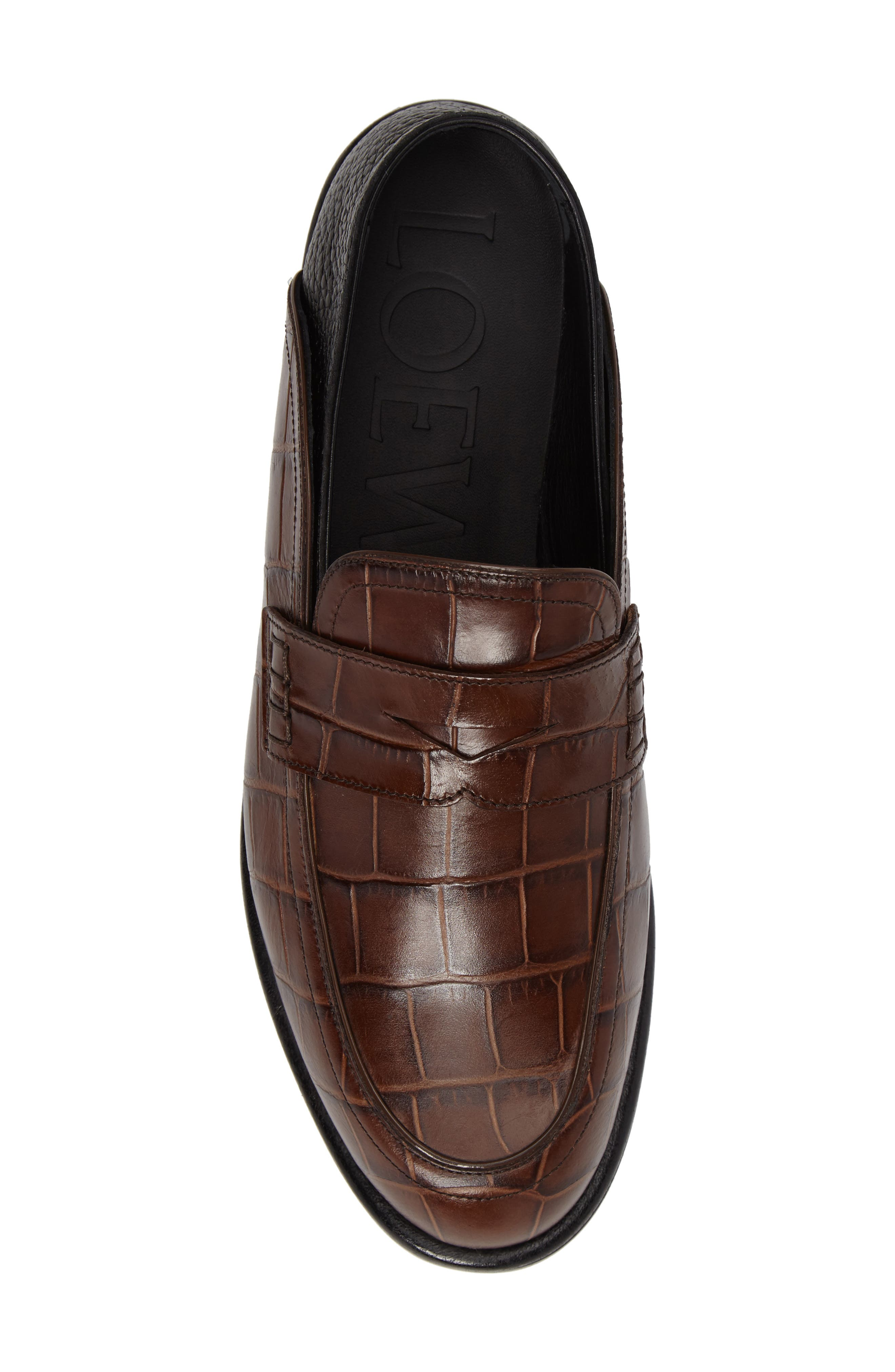 Croc Embossed Convertible Loafer,                             Alternate thumbnail 9, color,