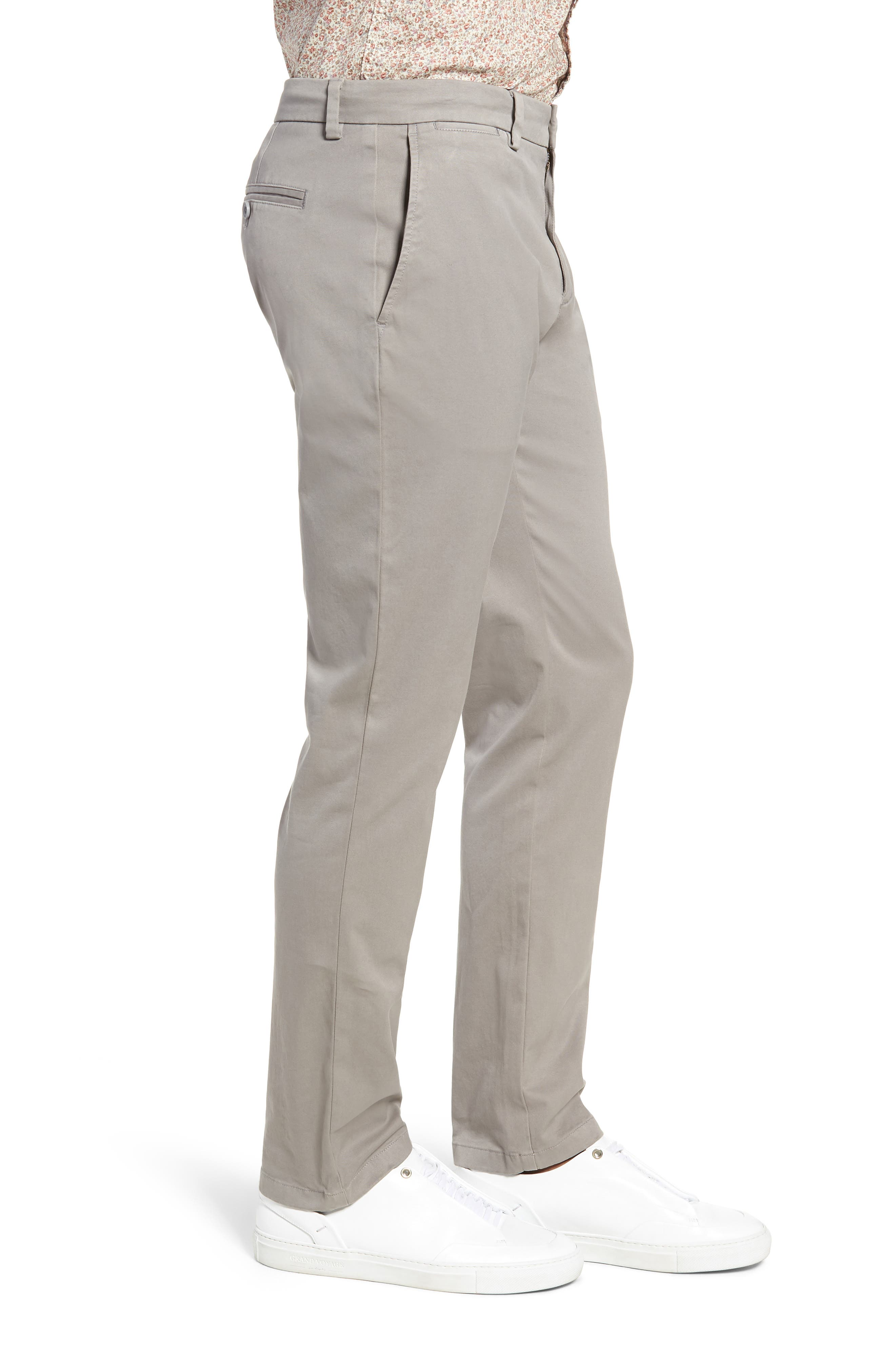 Stretch Slim Fit Pants,                             Alternate thumbnail 3, color,                             ANCHOR GREY