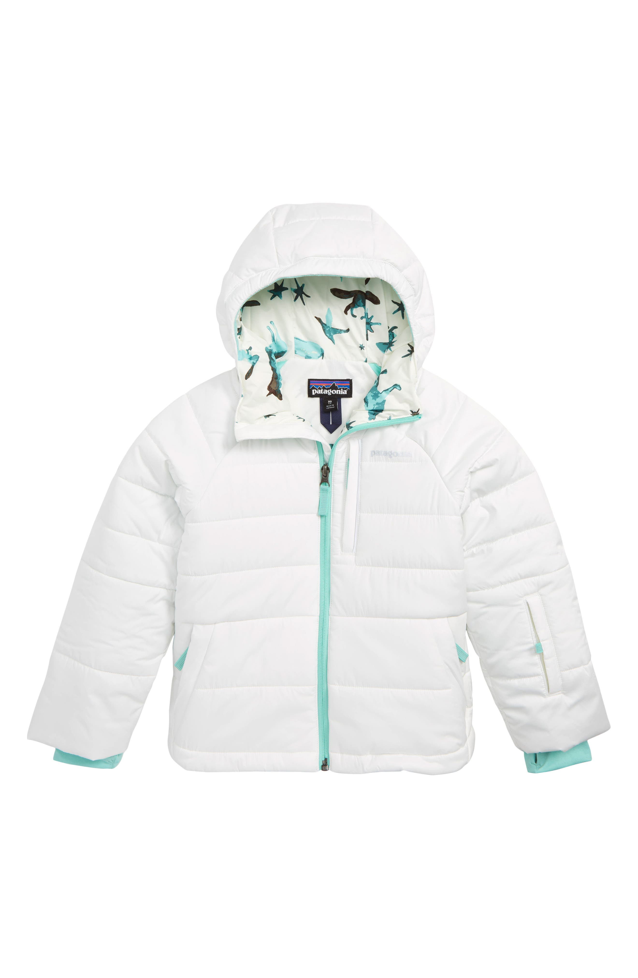 Aspen Grove Water Resistant Hooded Jacket,                         Main,                         color, NATURAL BIRCH WHITE