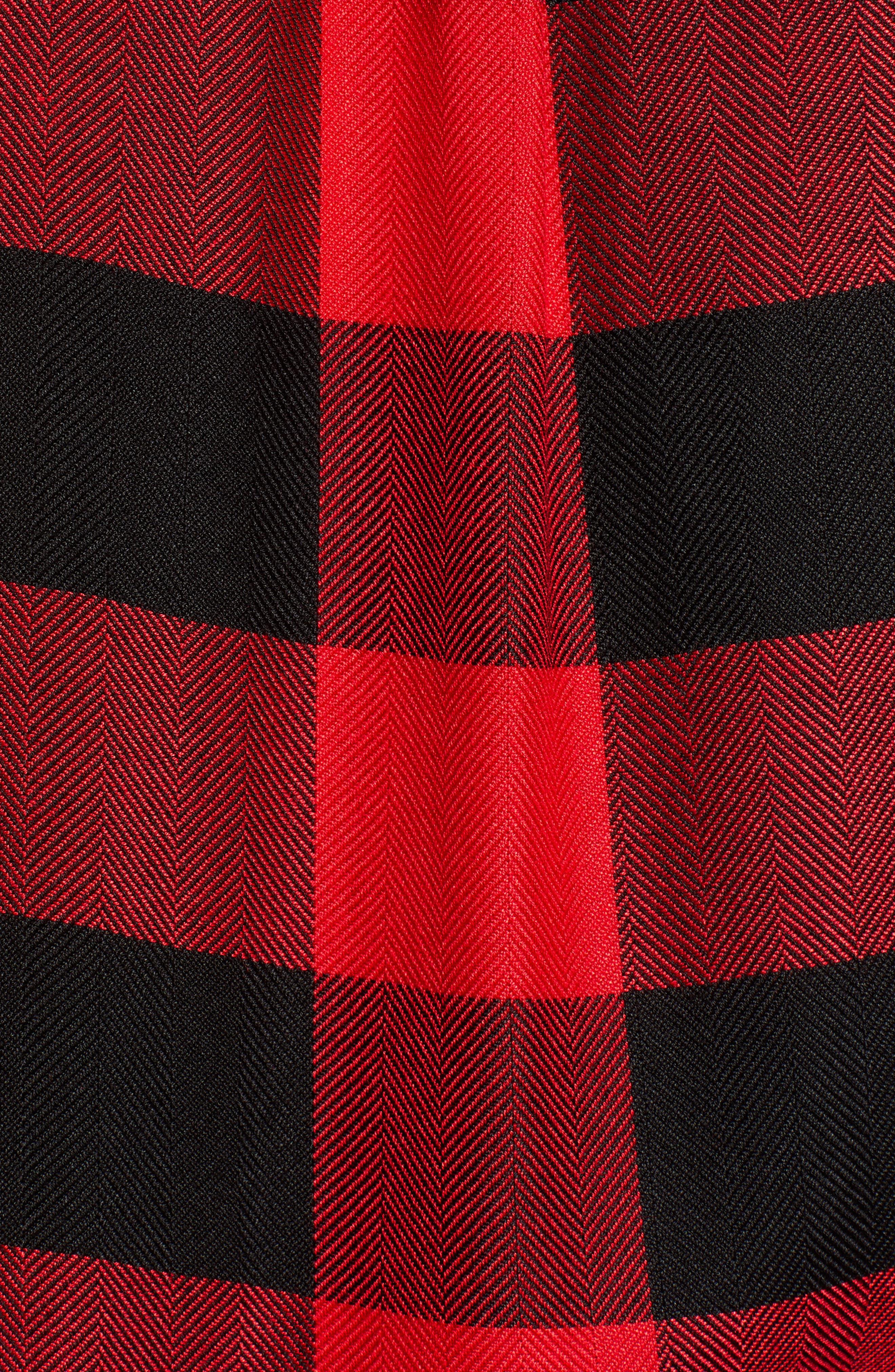 PAIGE,                             Elora Shirt,                             Alternate thumbnail 5, color,                             TRUE RED / BLACK
