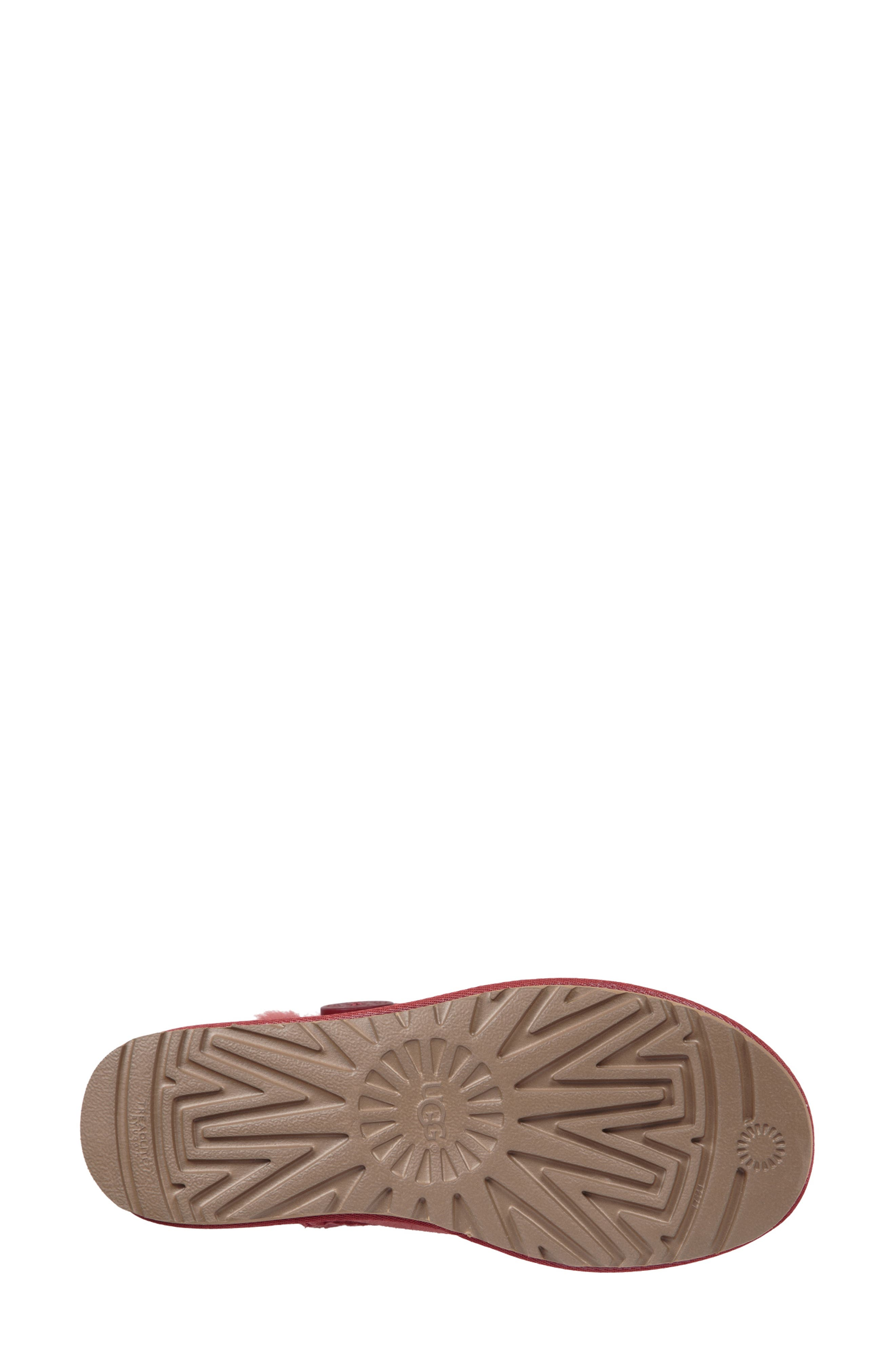 'Mini Bailey Button II' Boot,                             Alternate thumbnail 5, color,                             REDWOOD SUEDE
